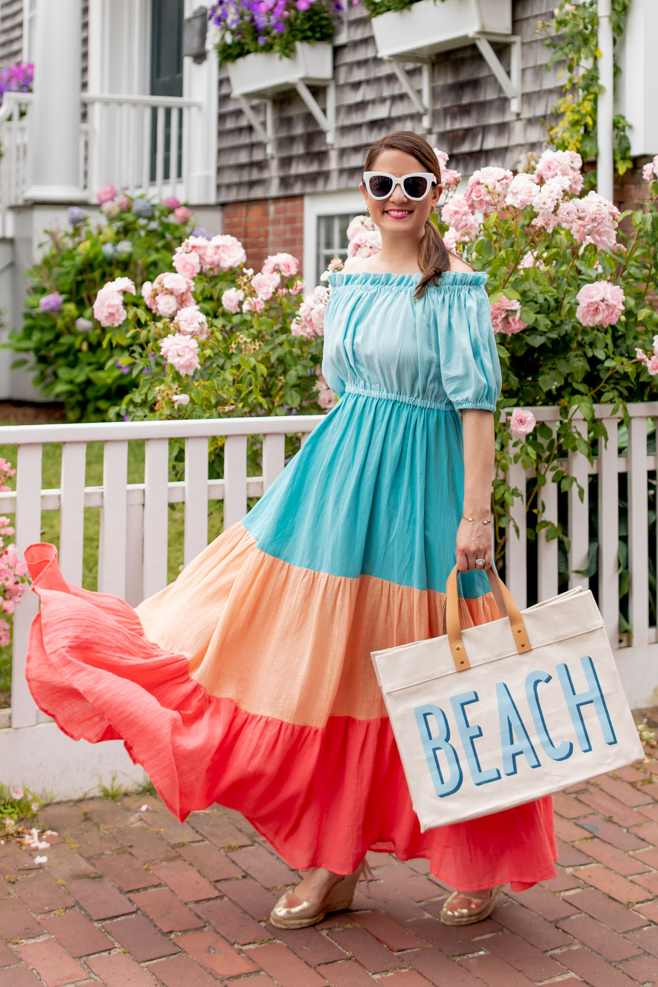 A Mere Co Colorblock Summer Dress