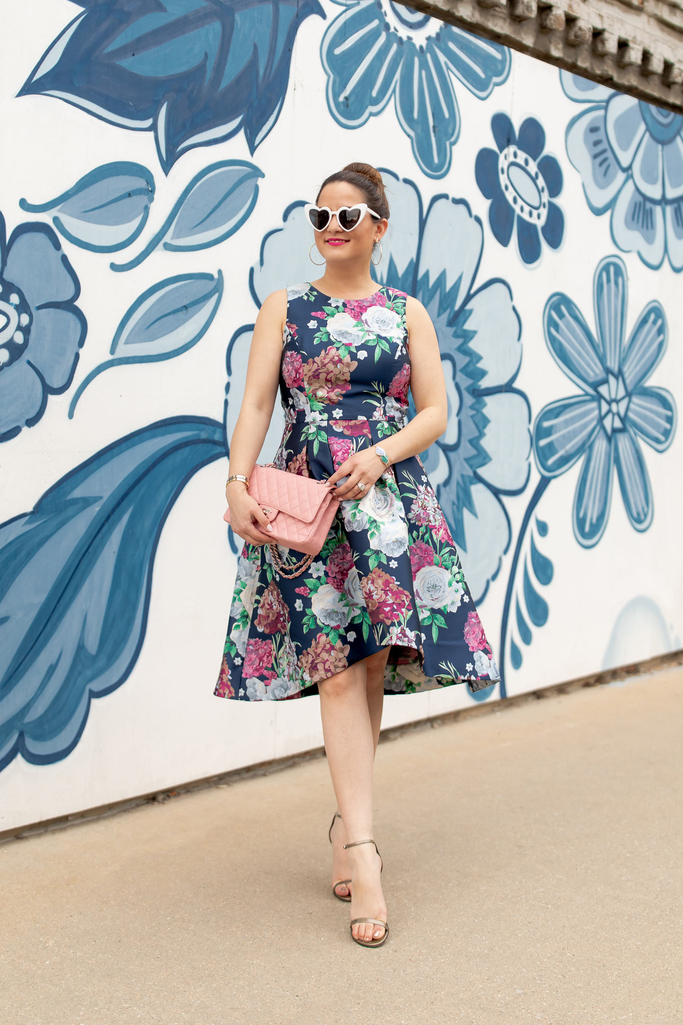 Eliza J Floral Brocade Dress