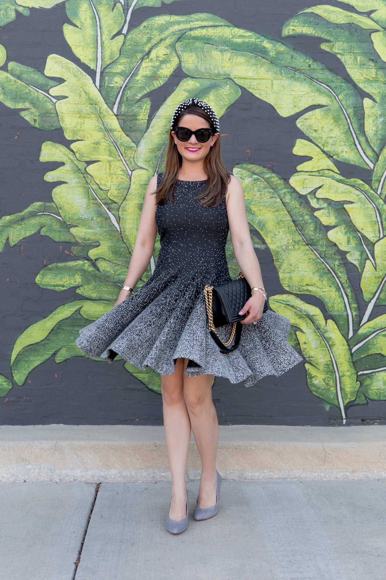 Eliza J Knit Fit Flare Dress
