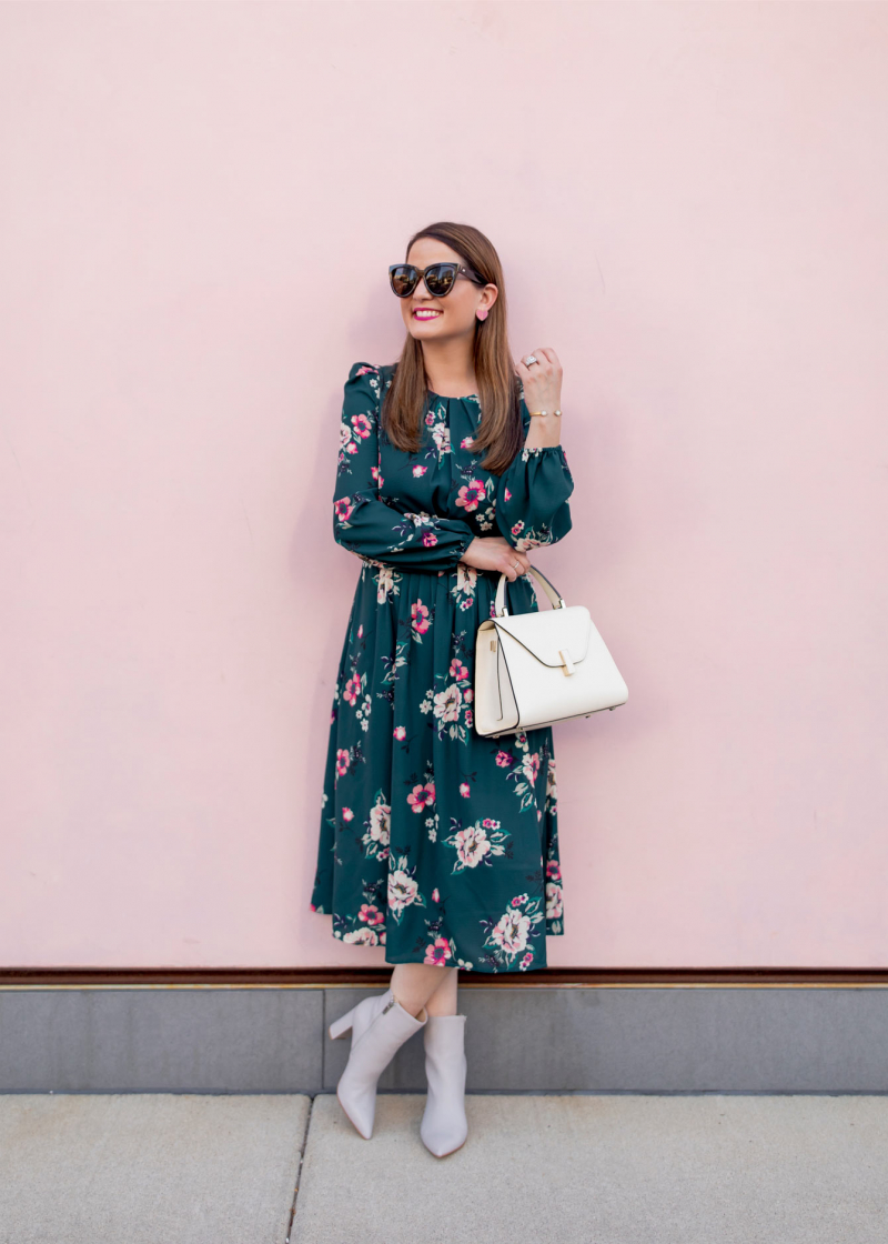 Eliza J Pleated Floral Midi Dress Nordstrom