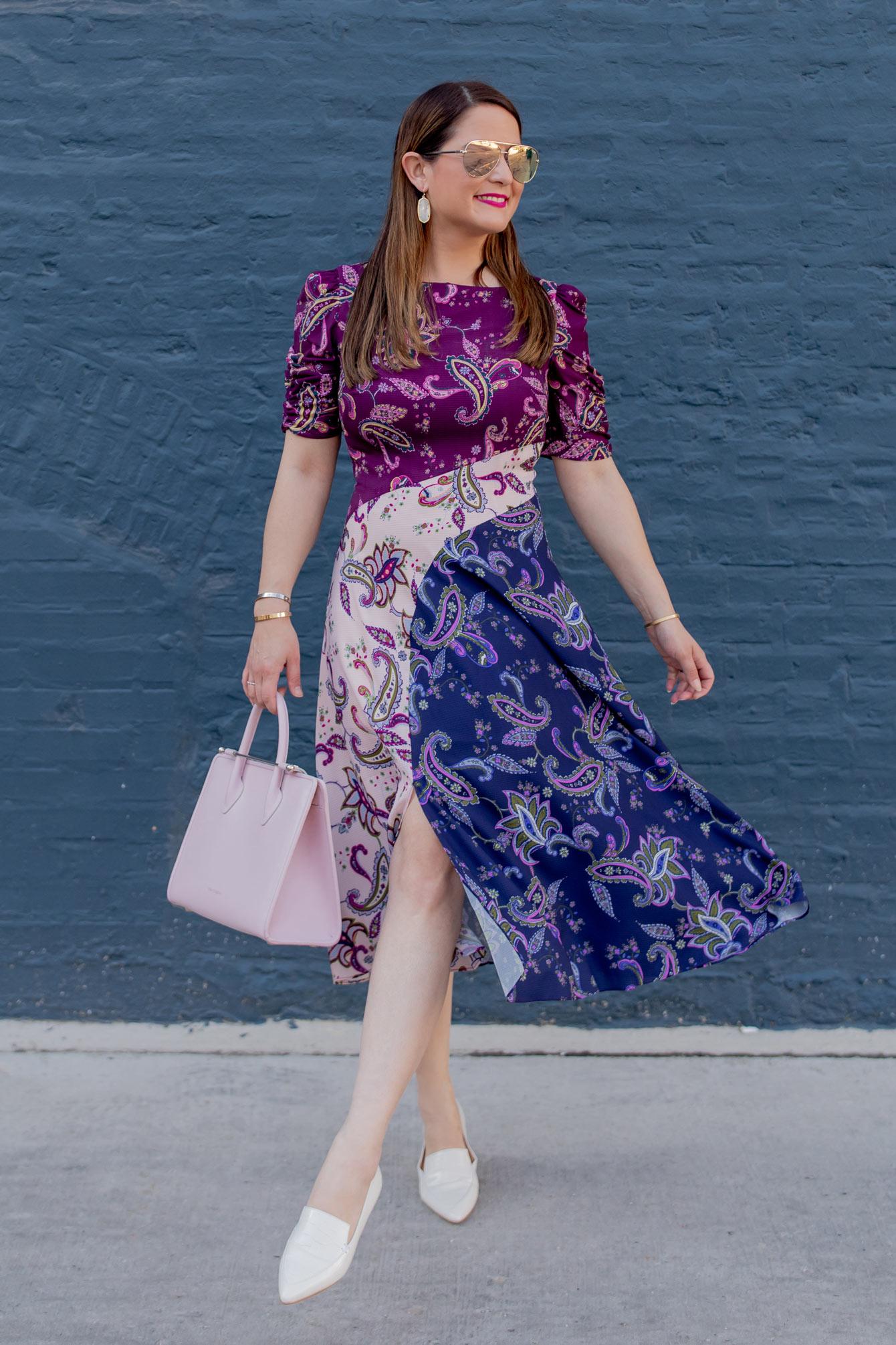 Eliza J Tri Color Paisley Dress