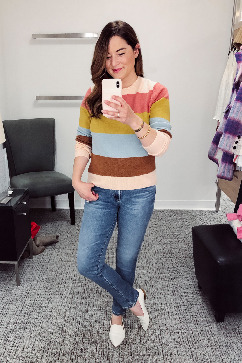 Halogen Colorful Stripe Sweater