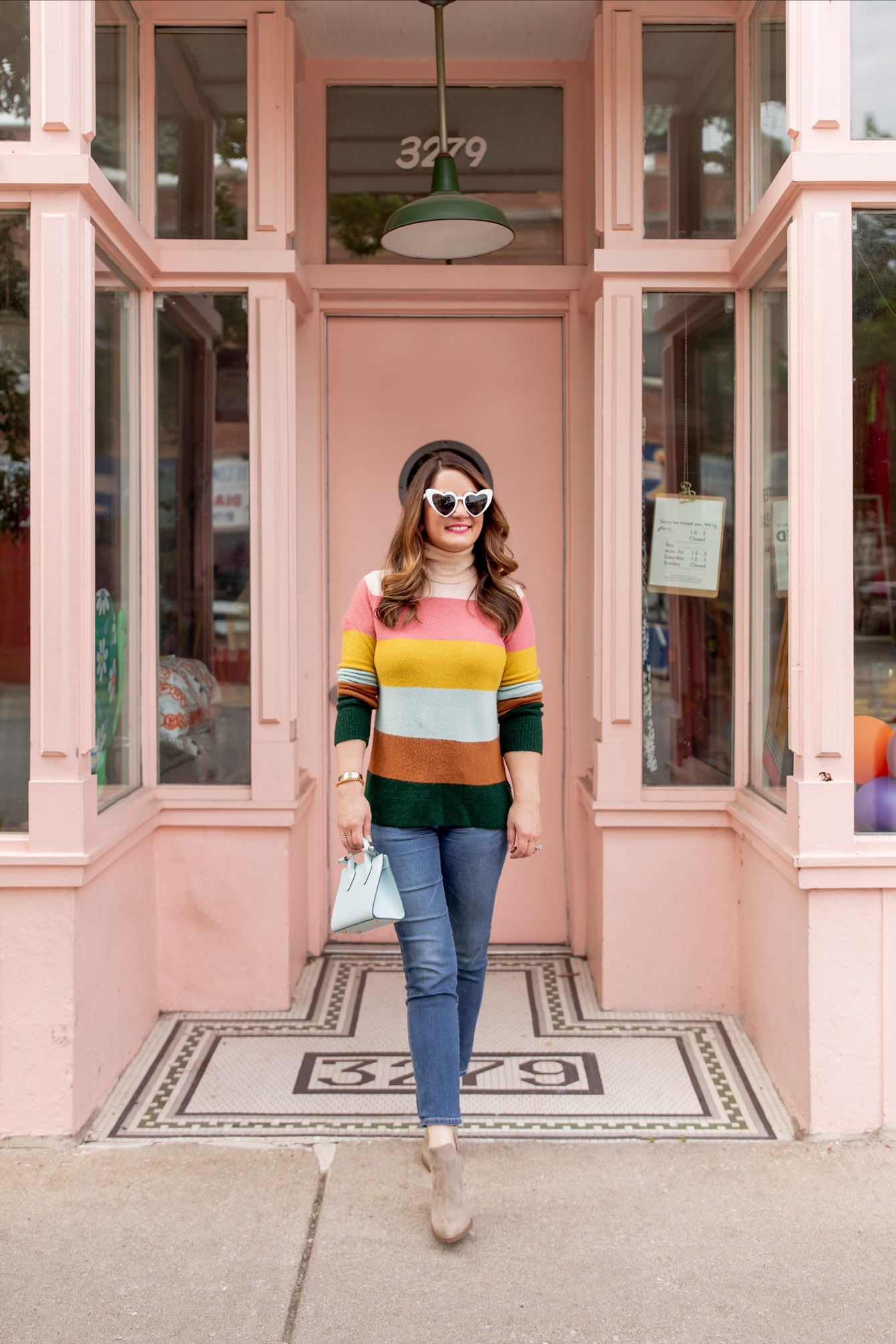 Halogen Multicolor Stripe Sweater