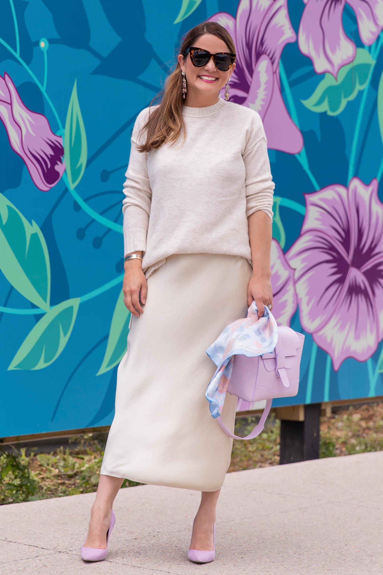 Ivory Midi Slip Skirt