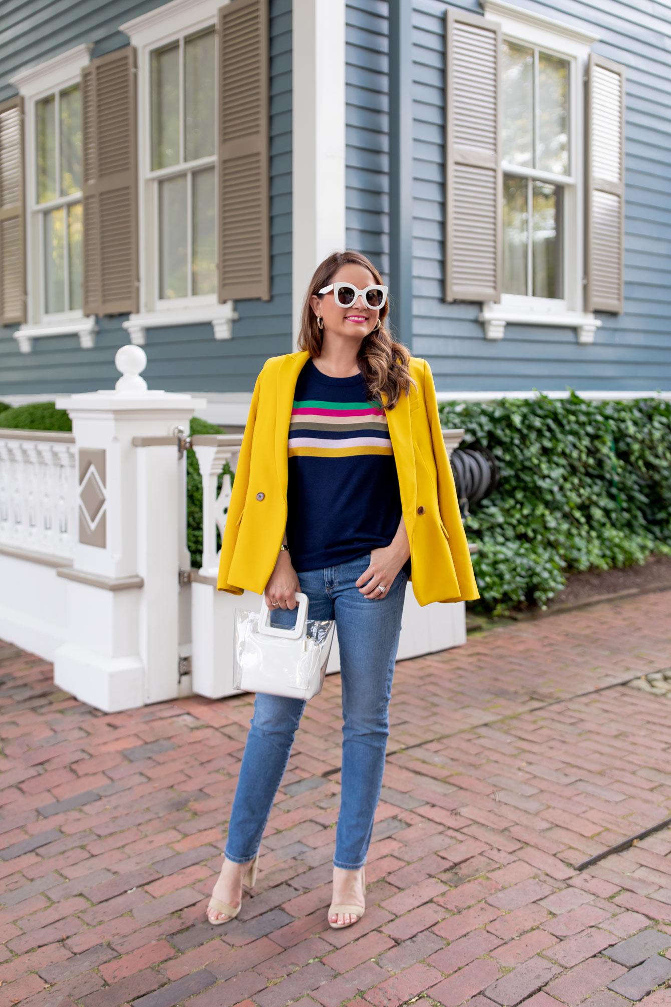 J Crew Multicolor Stripe Sweater