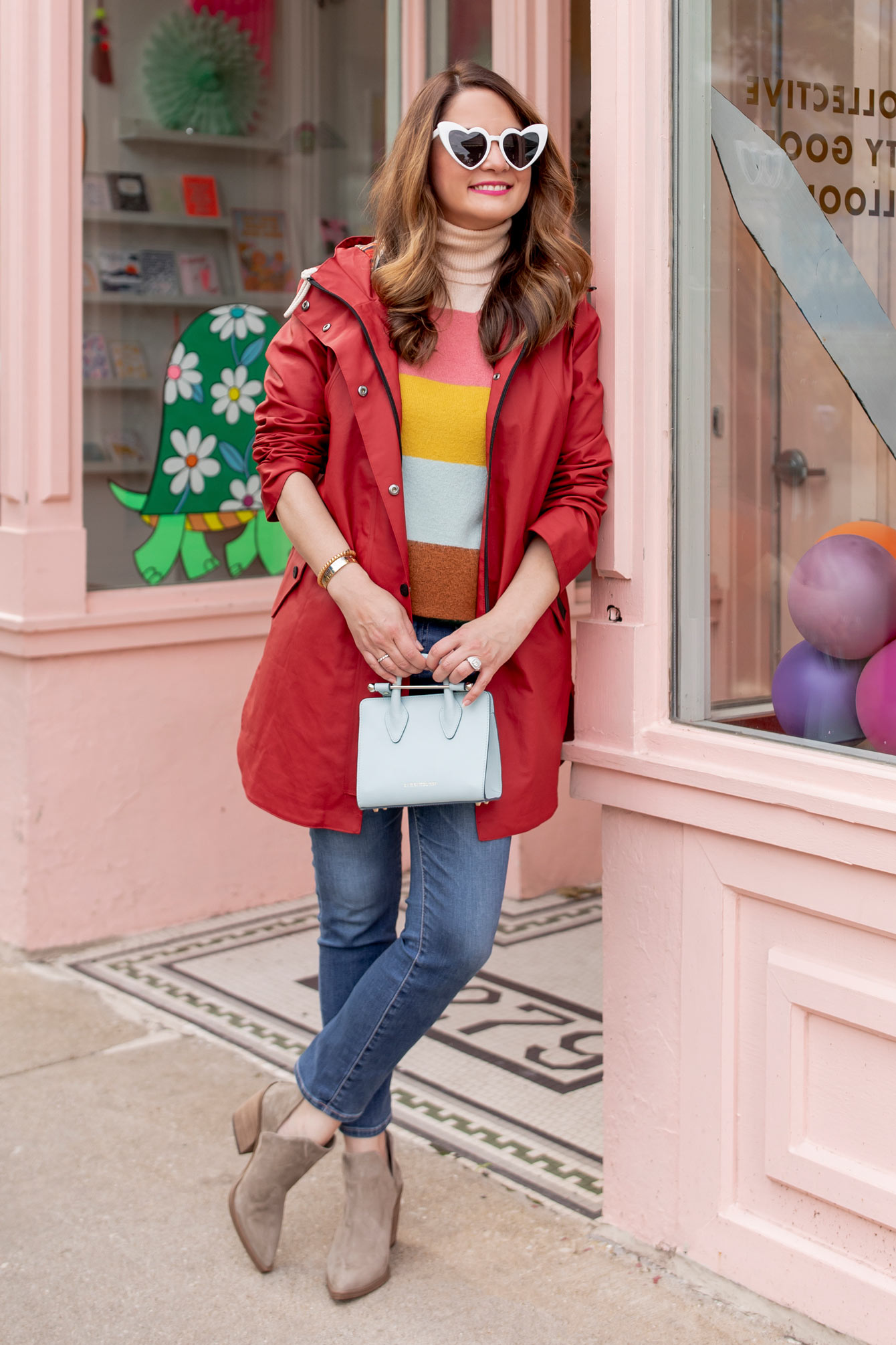 Pendleton Newport Hooded Red Raincoat