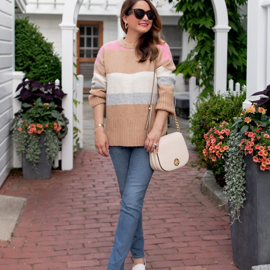 TOPSHOP Stripe Sweater Nordstrom Sale
