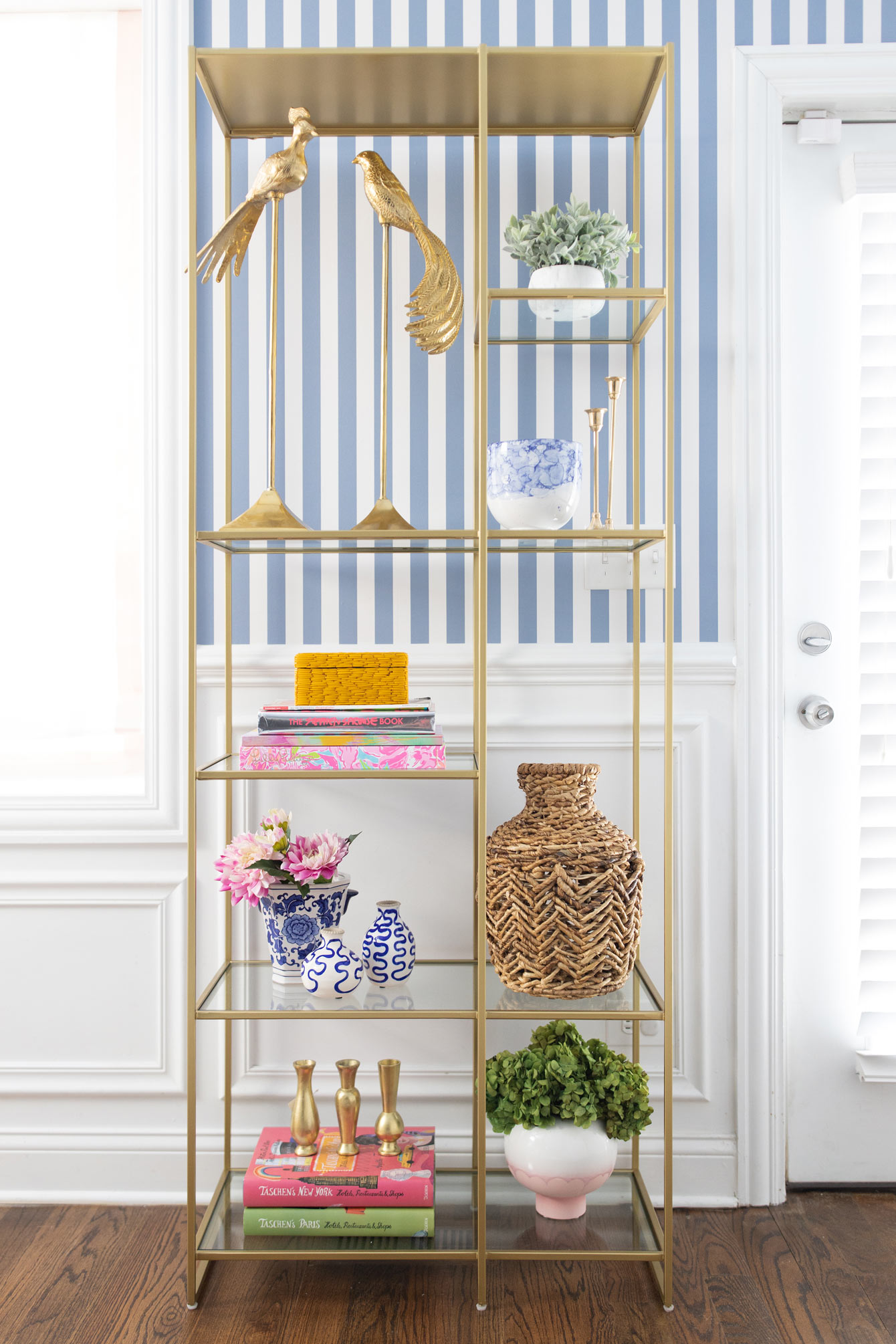 Crate and Barrel Estelle Brass Shelf