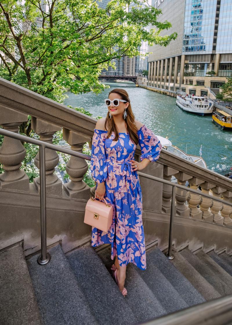 Eliza J Pink Floral Dress