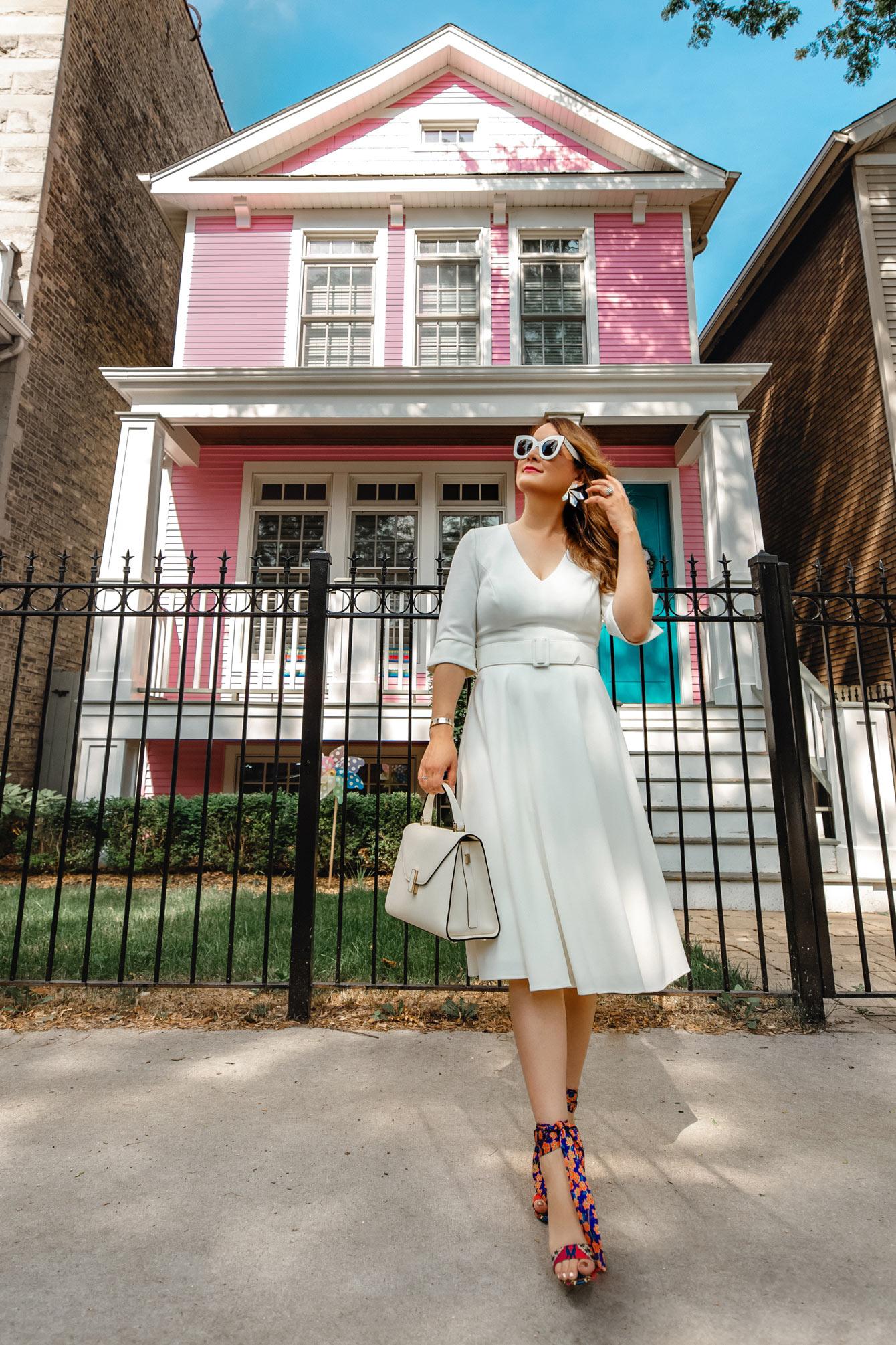 Harper Rose White Fit Flare Dress