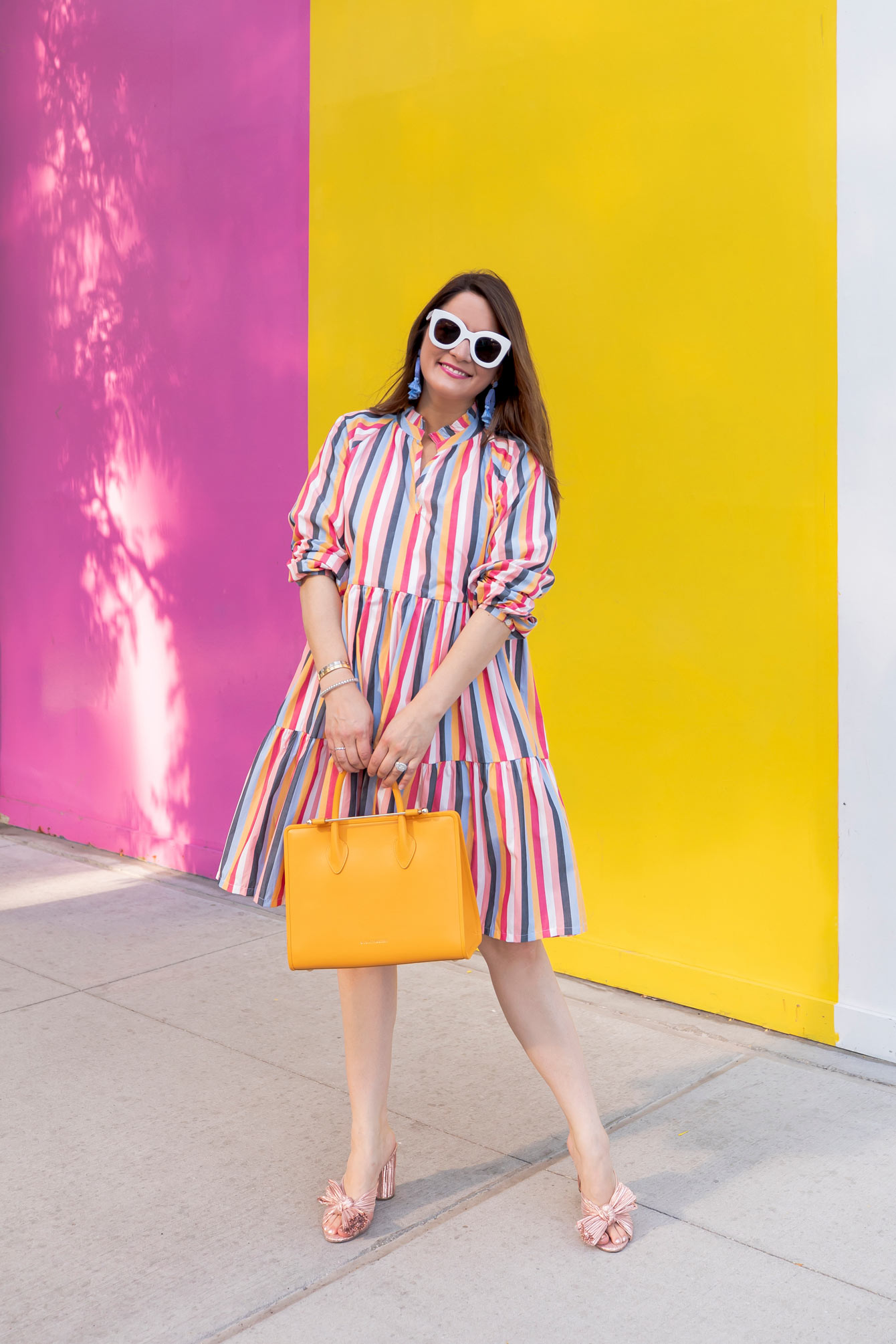 J. Crew Multicolor Tiered Popover Dress