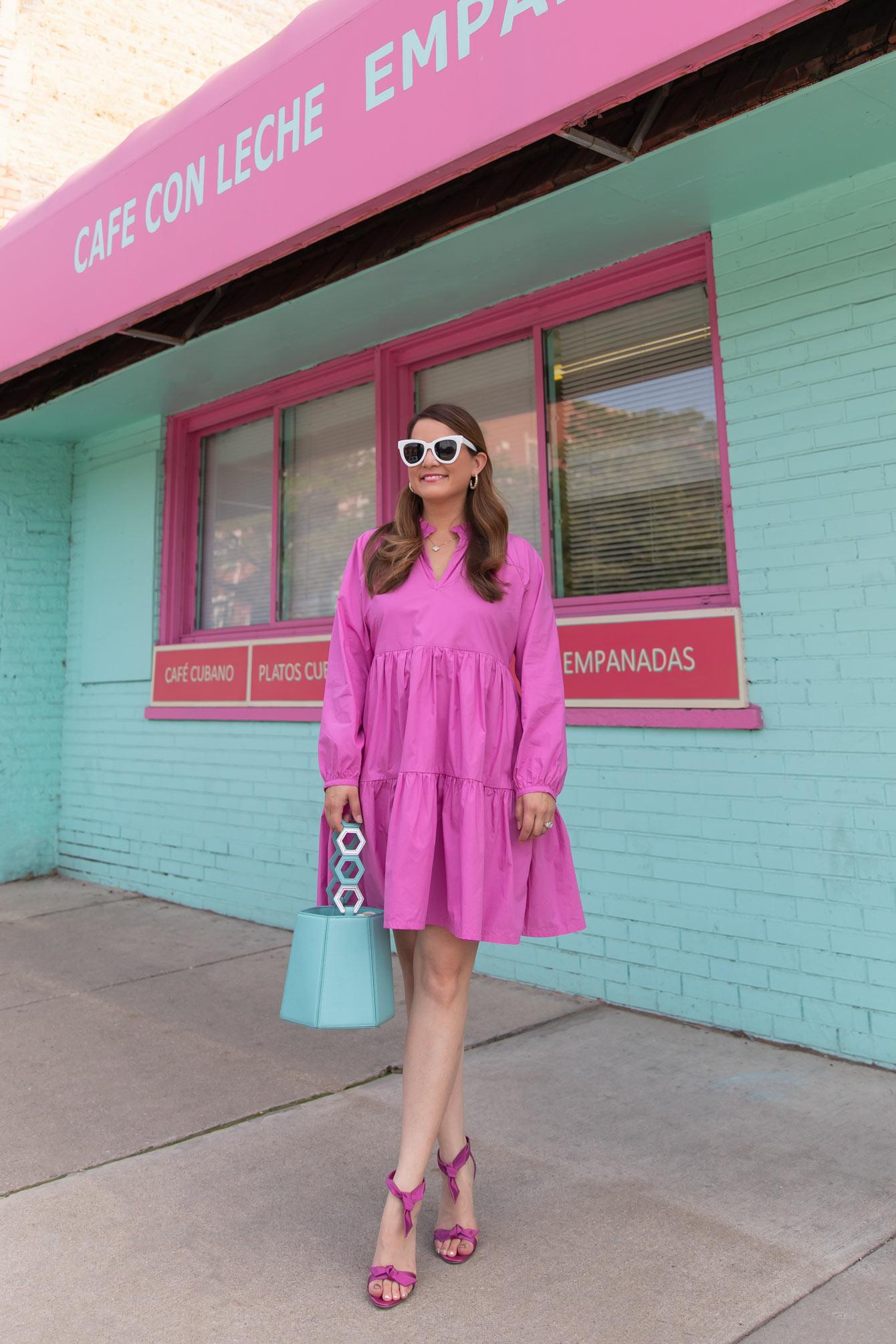 J. Crew Pink Tiered Dress