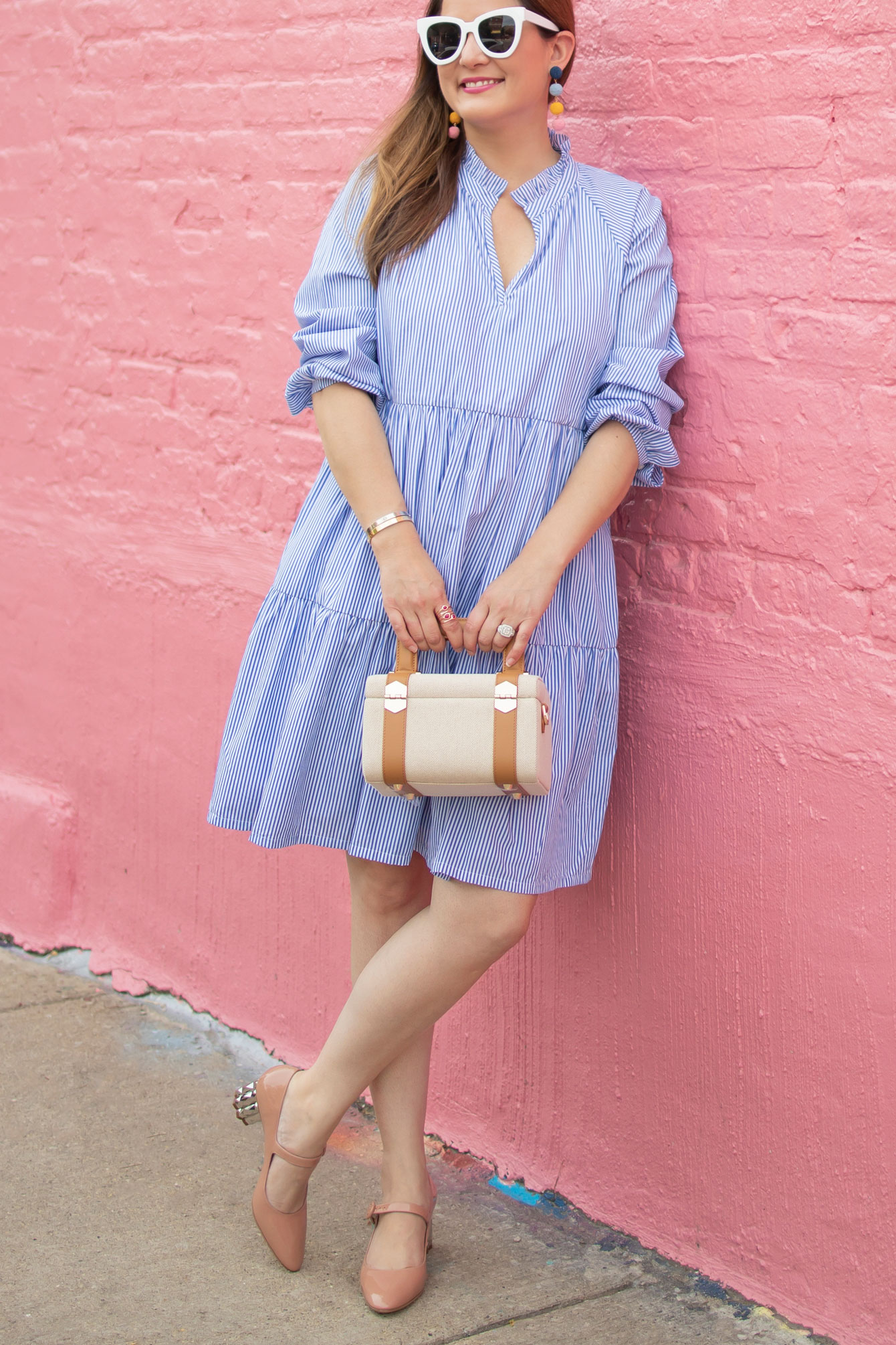 J. Crew Stripe Poplin Dress