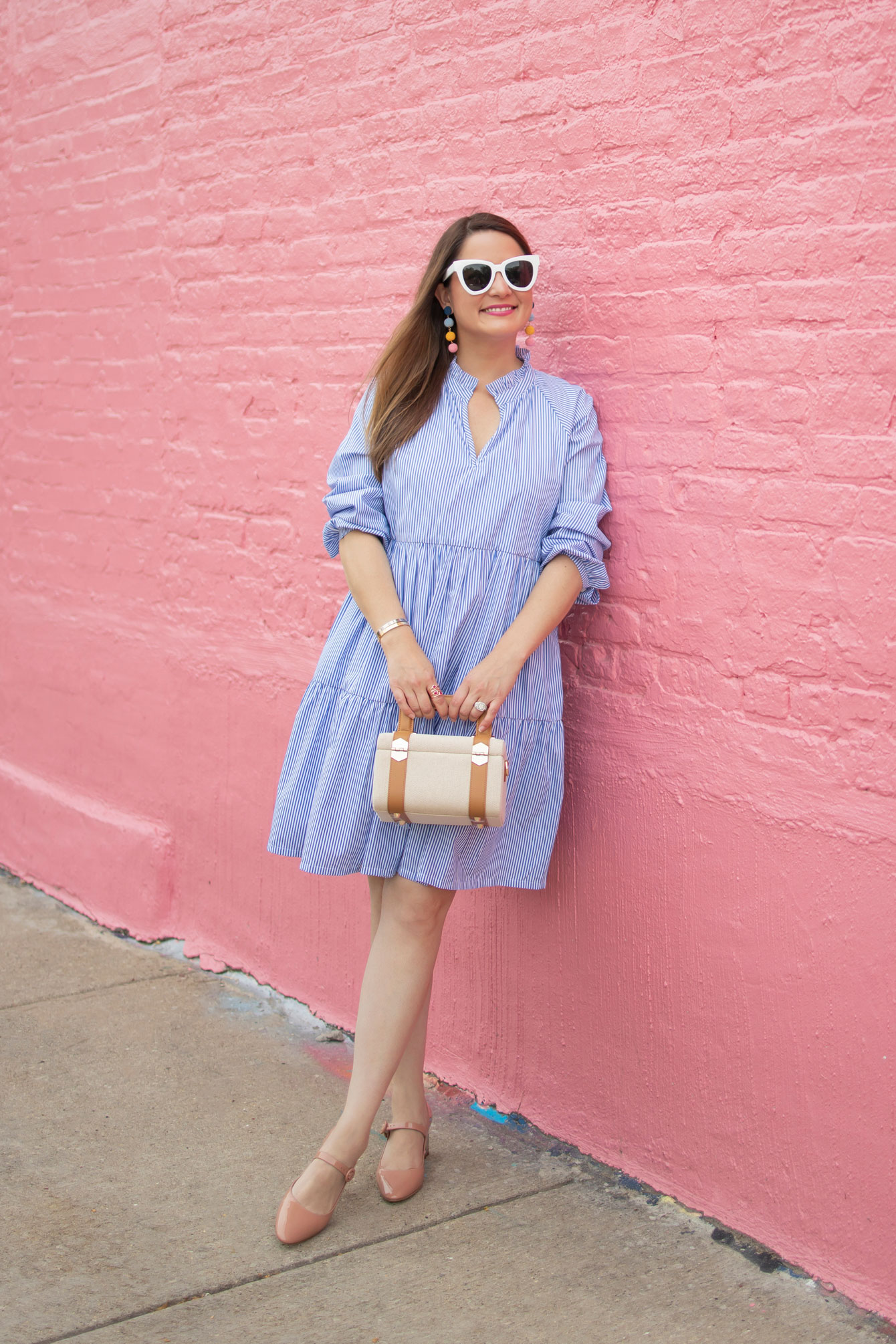 J. Crew Tiered Popover Dress