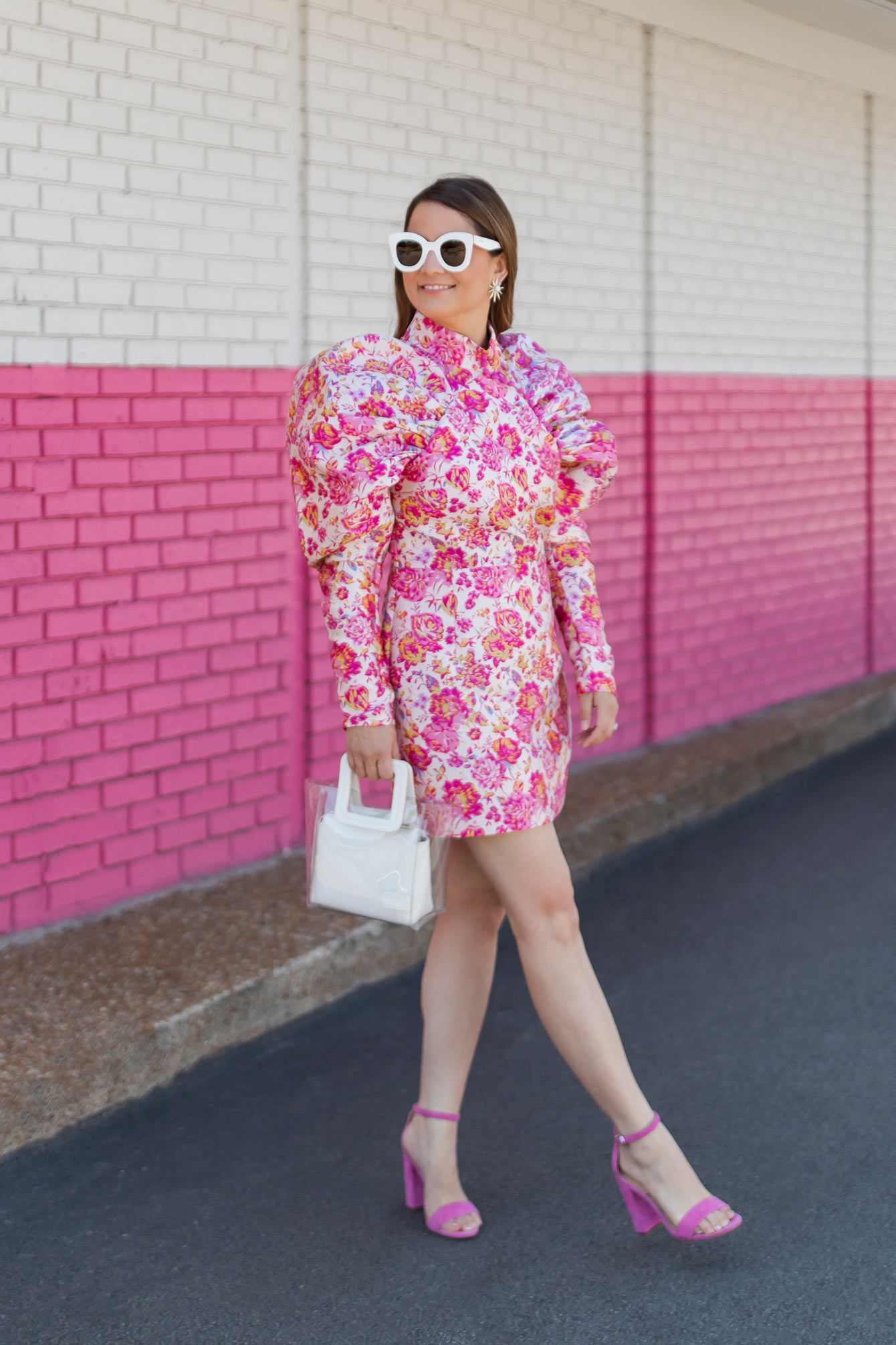 Jennifer Lake Pink Floral Dress