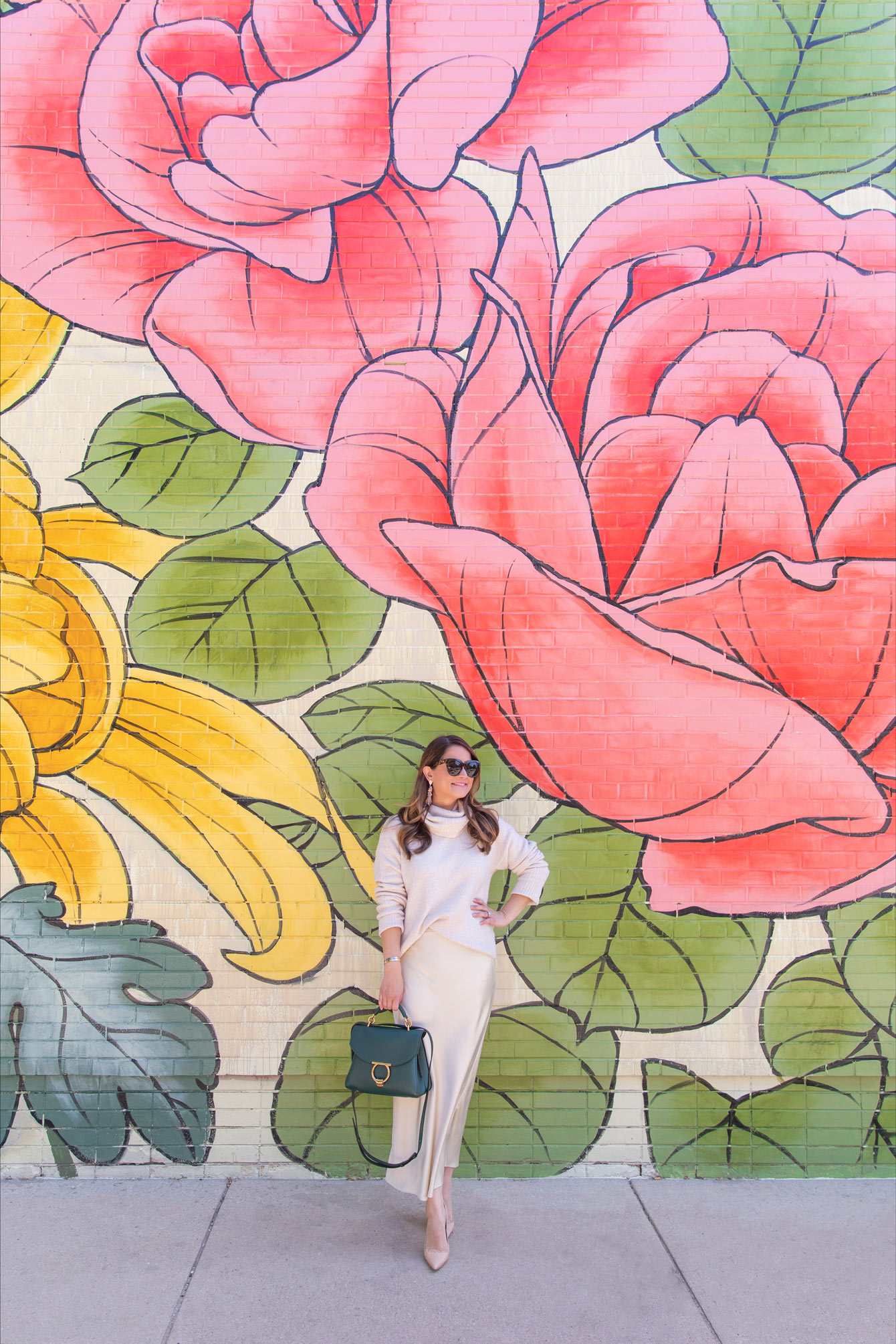 Ouizi Floral Mural Chicago