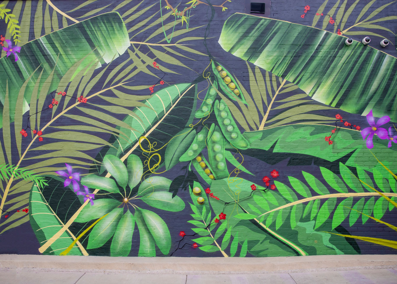 Tropical Leaf Mural Chicago