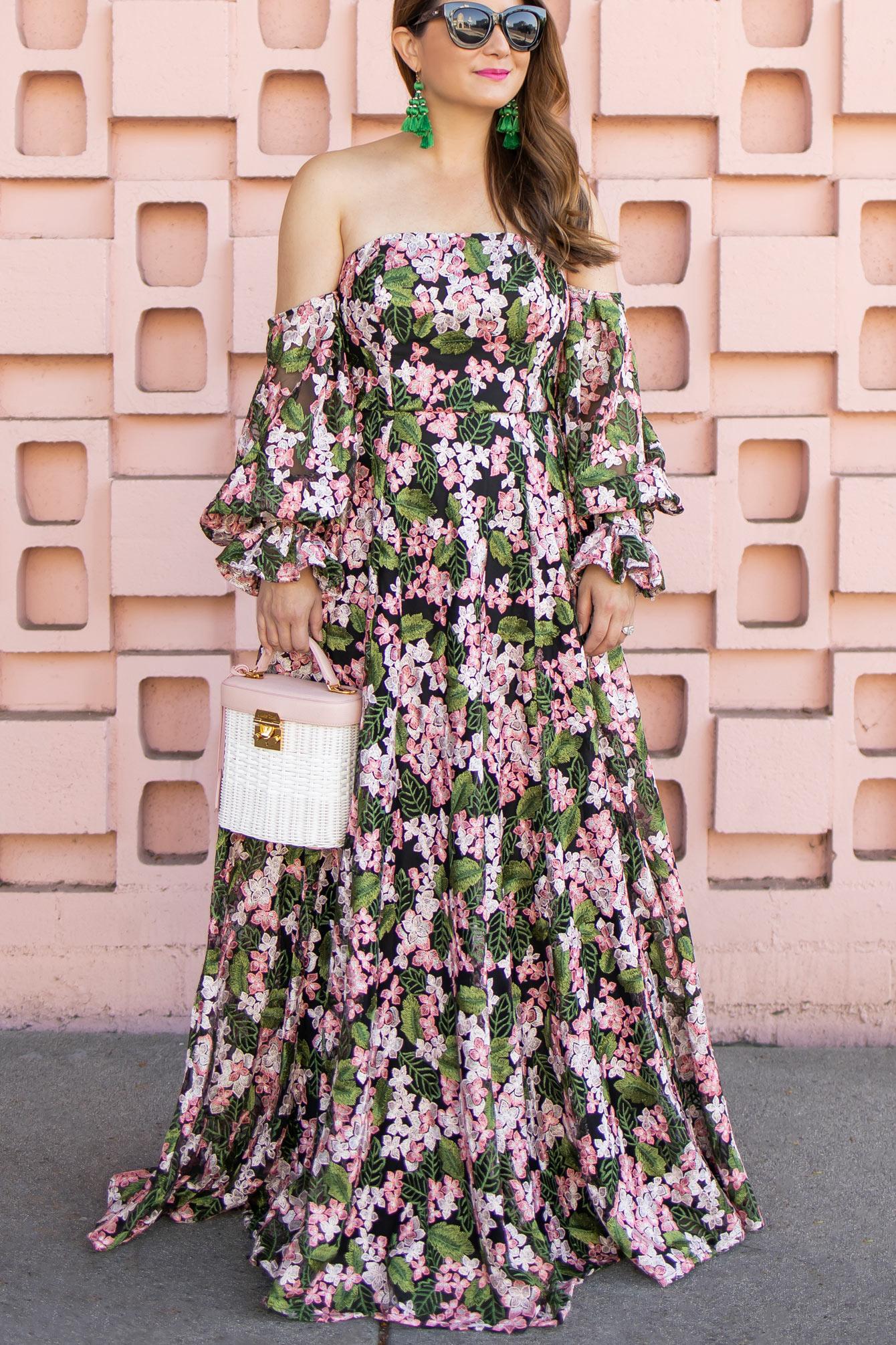 ASOS Floral Lace Maxi Dress