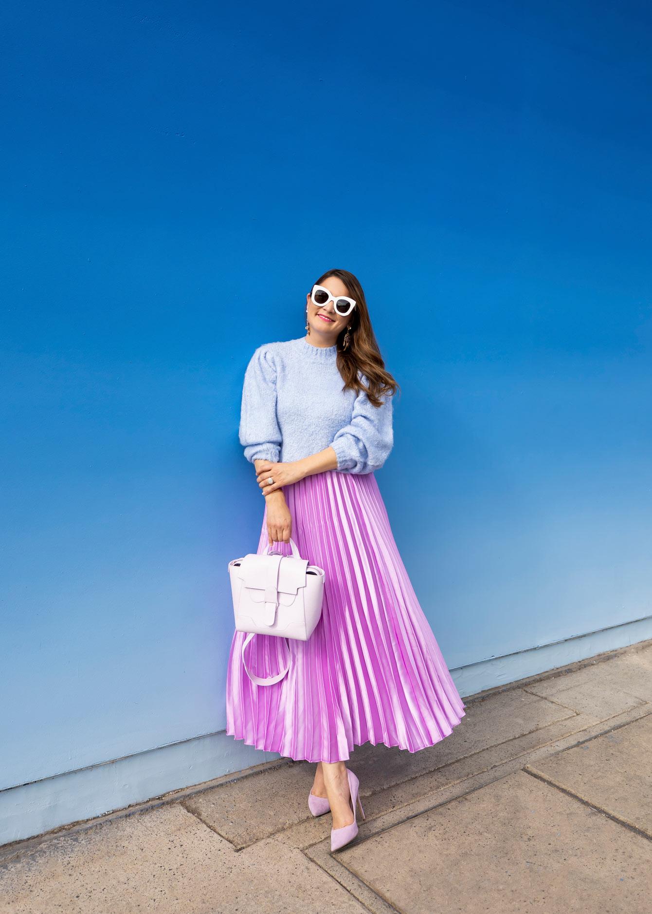 ASOS Purple Pleated Skirt