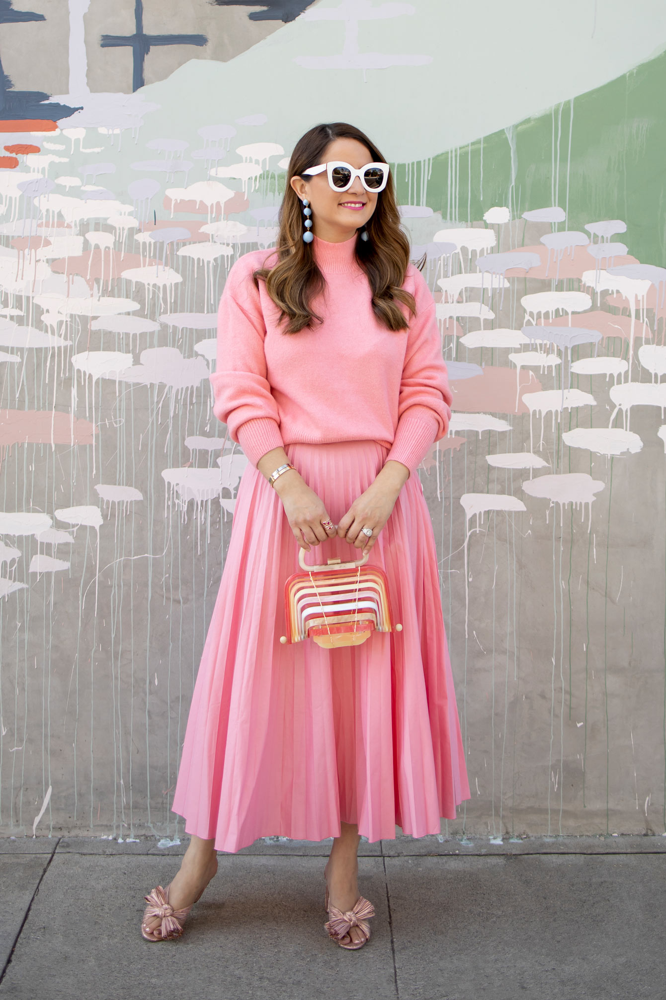 Glamorous Pink Pleated Skirt