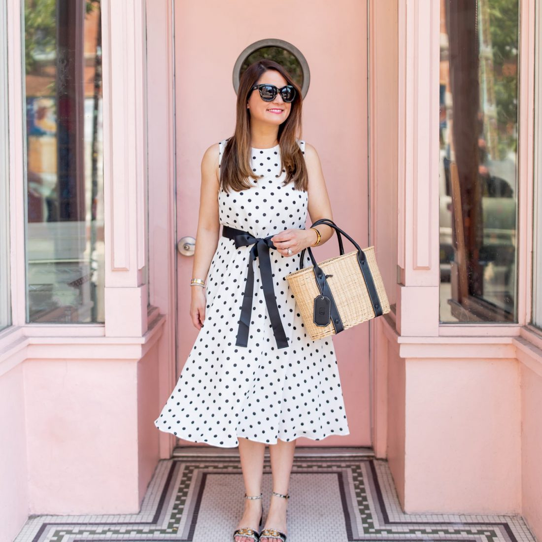 Jenn Lake Polka Dot Dress