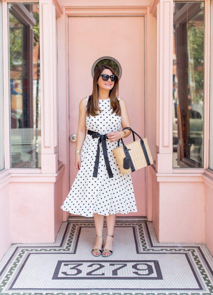 Seeing Dots // Harper Rose Polka Dot Tie Waist Dress