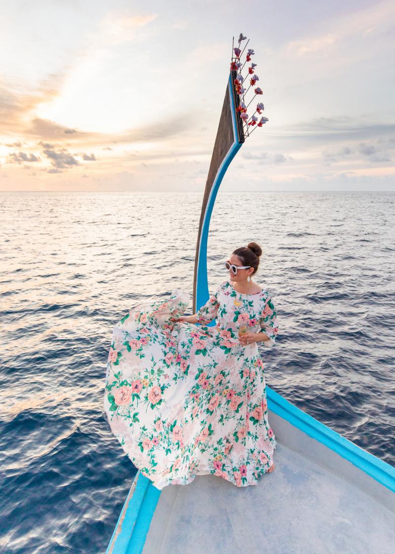 Jennifer Lake Maldives Boat