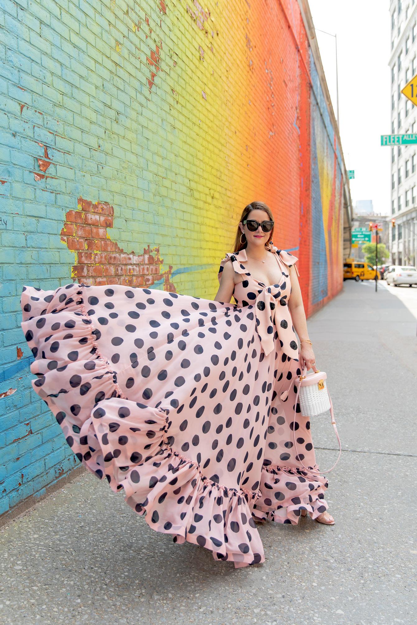 Leal Daccarret Pink Polka Dot Dress
