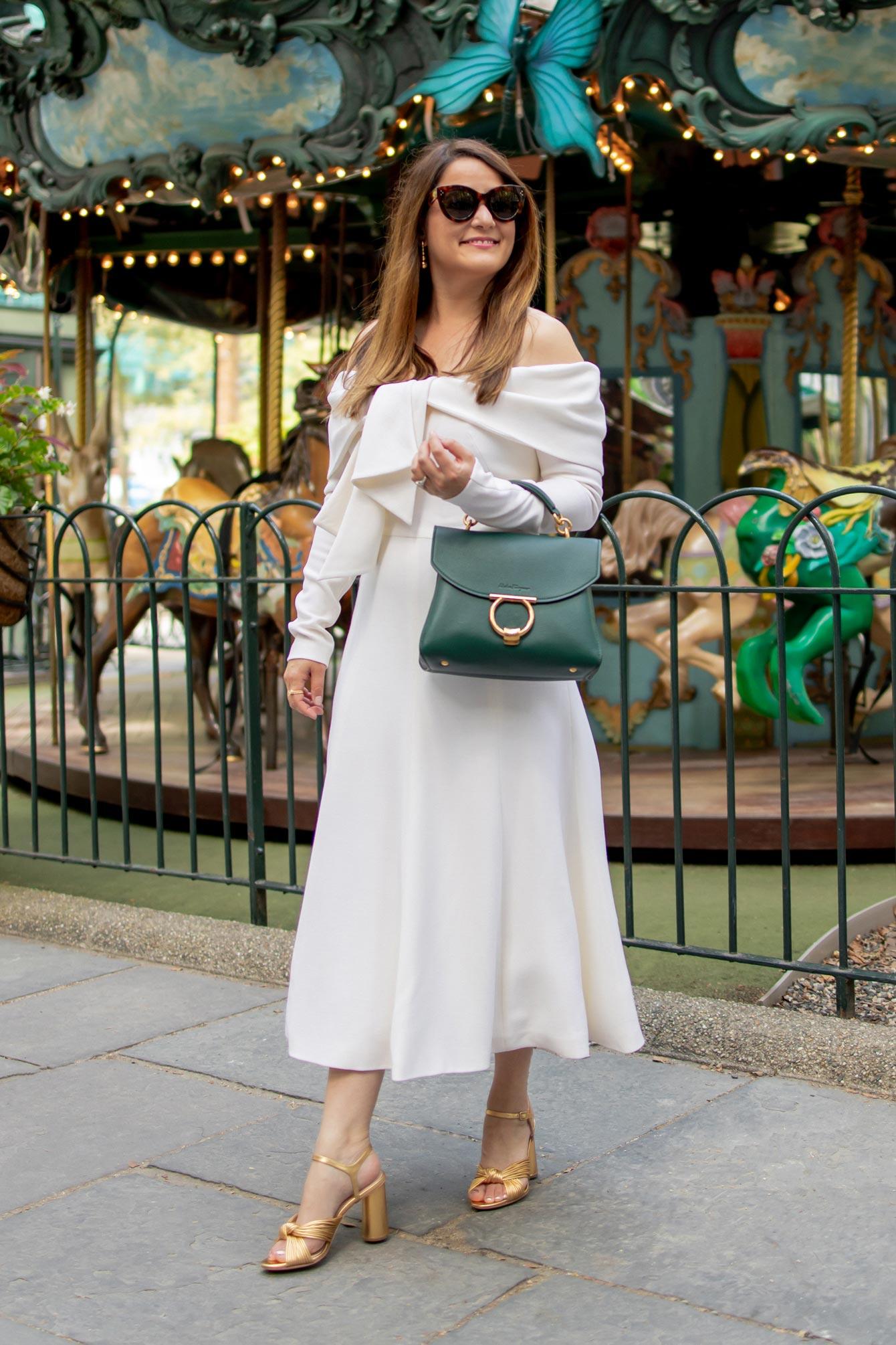Lela Rose Ivory Midi Dress