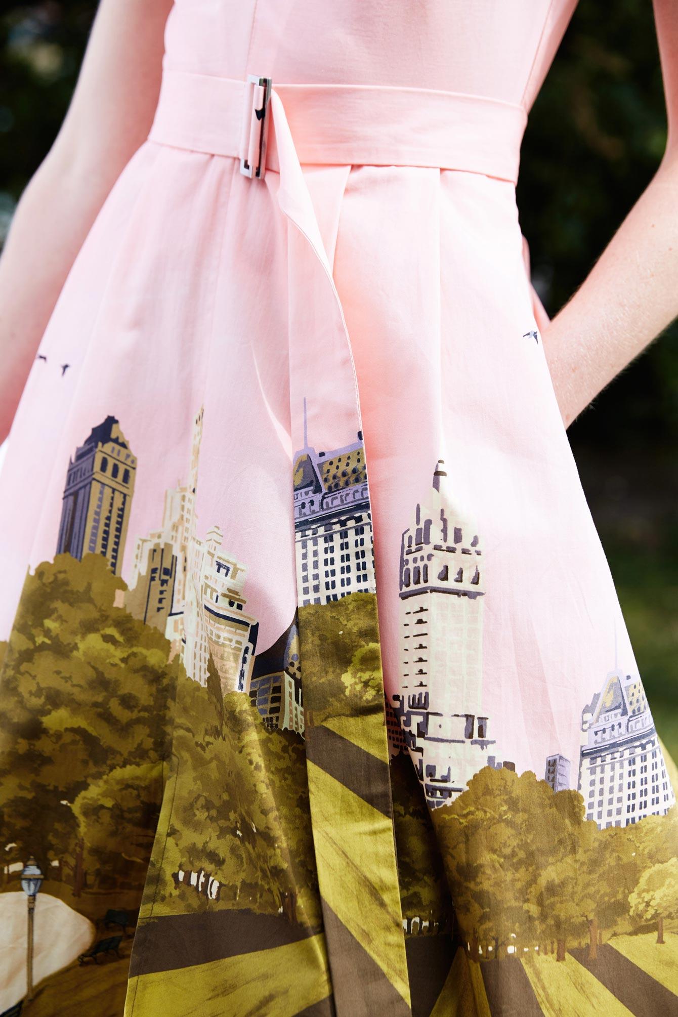 Lela Rose New York Skyline Print
