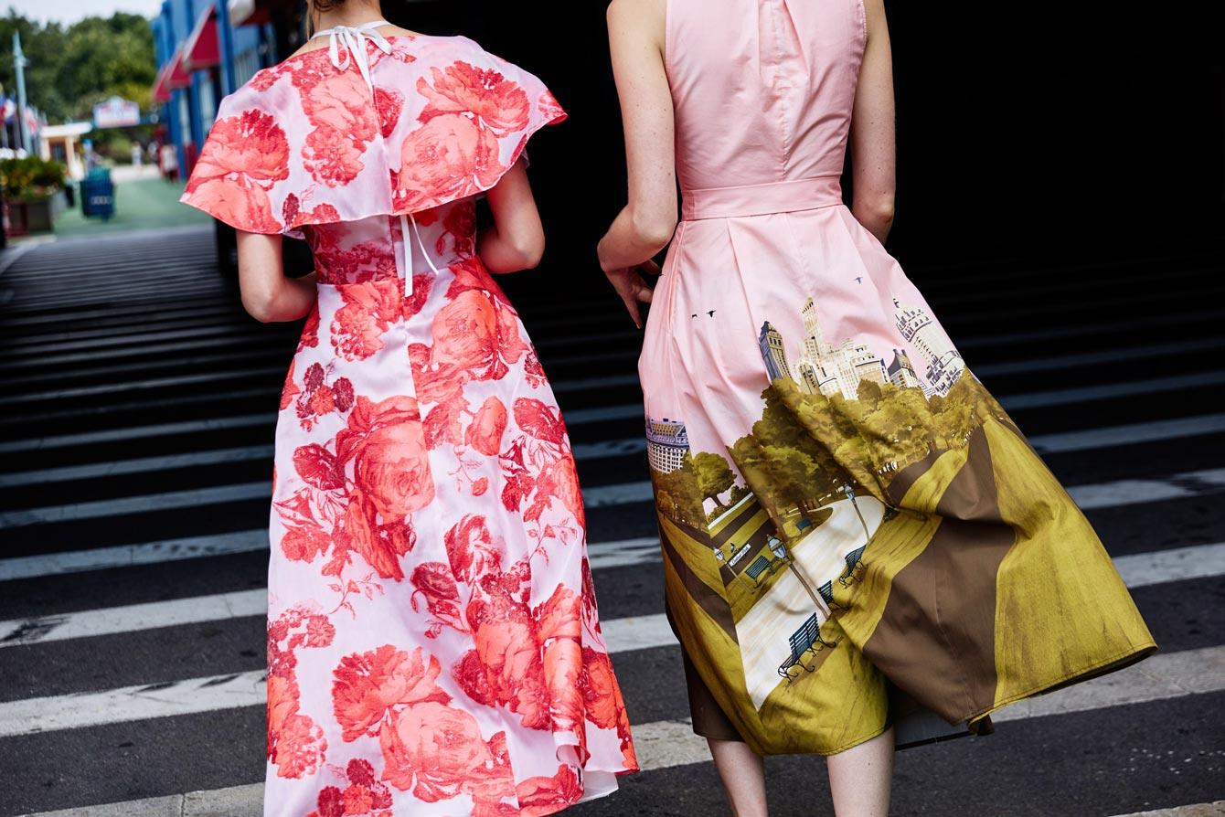 Lela Rose Pink Floral Dress