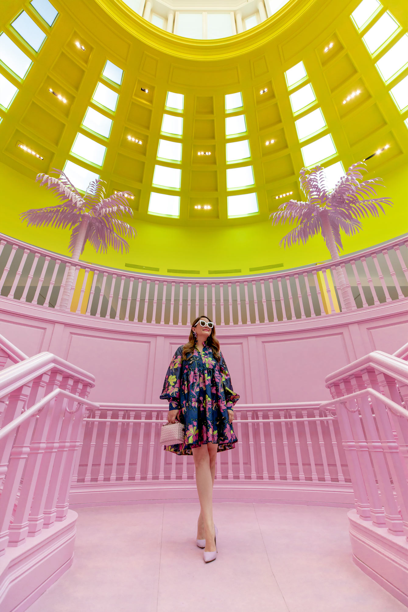 Louis Vuitton Pink Stairs Los Angeles