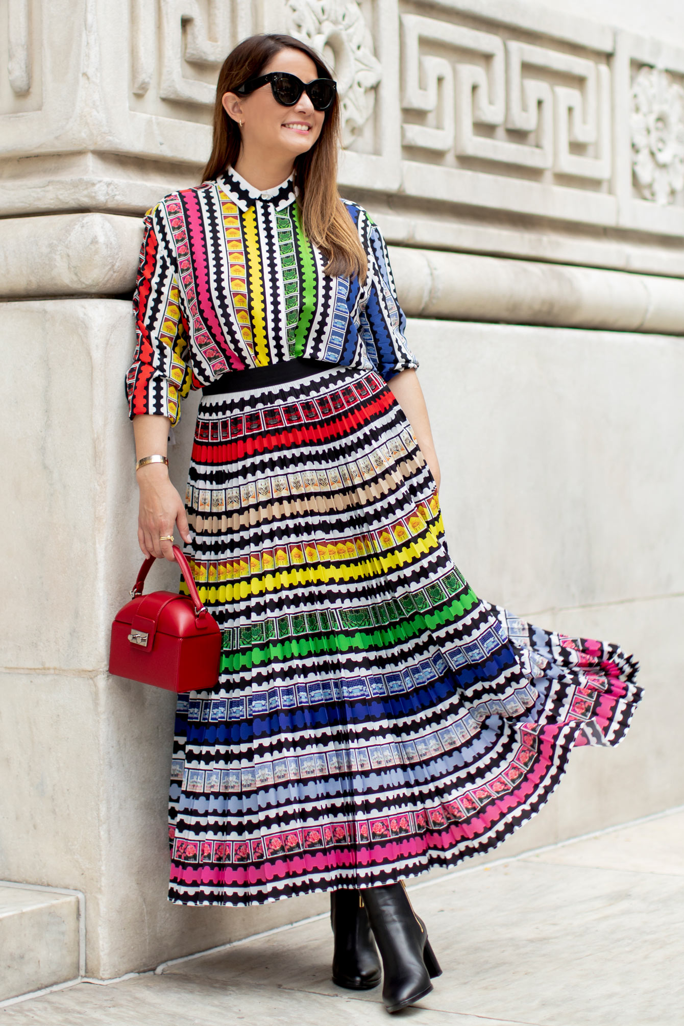 Mary Katrantzou Pleated Skirt