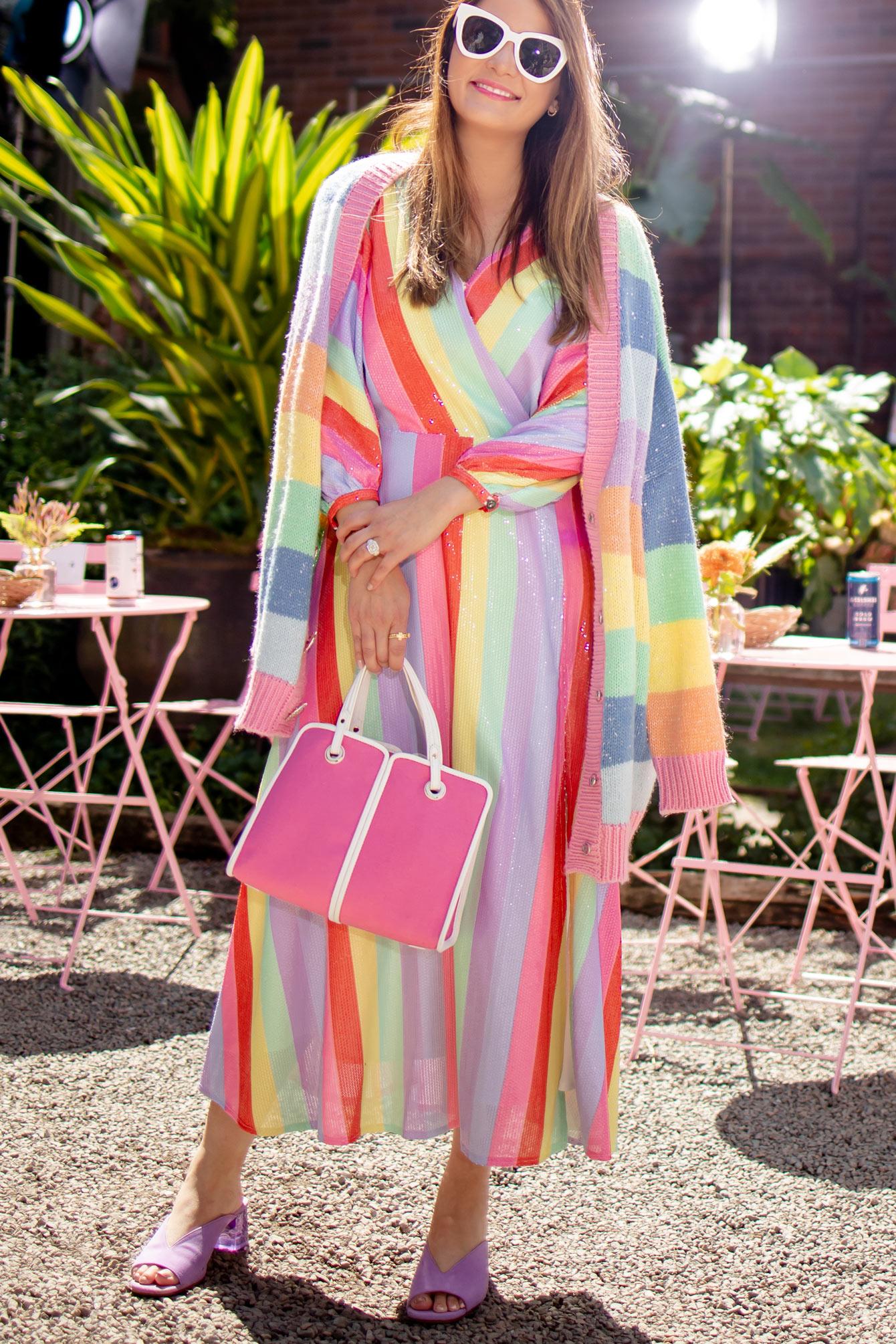 Olivia Rubin Rainbow Sequin Dress