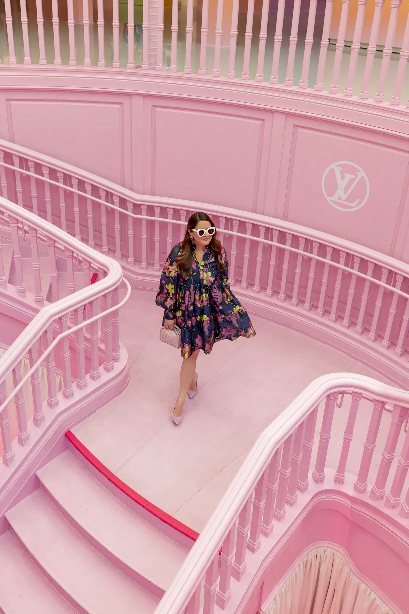 Pink Stairs Louis Vuitton Los Angeles