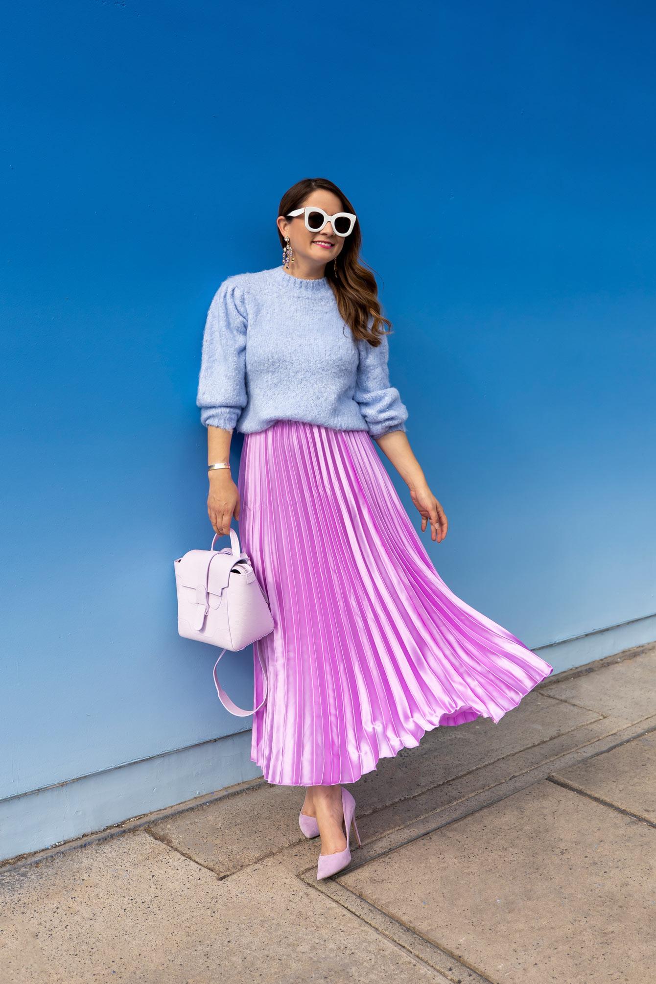 Sky Blue Lavender Outfit