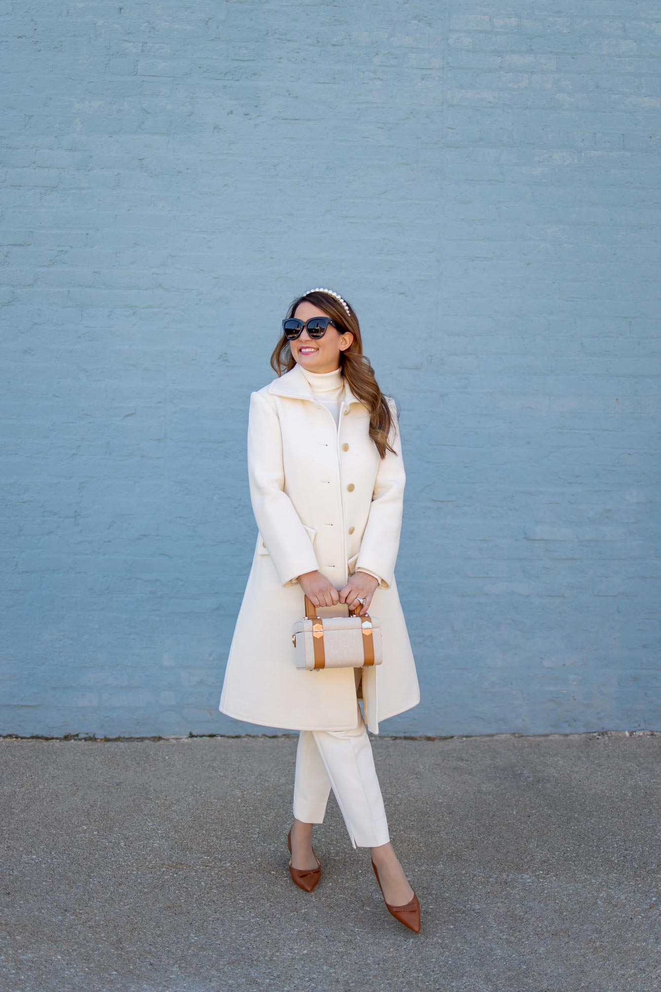 Jennifer Lake Ivory Coat