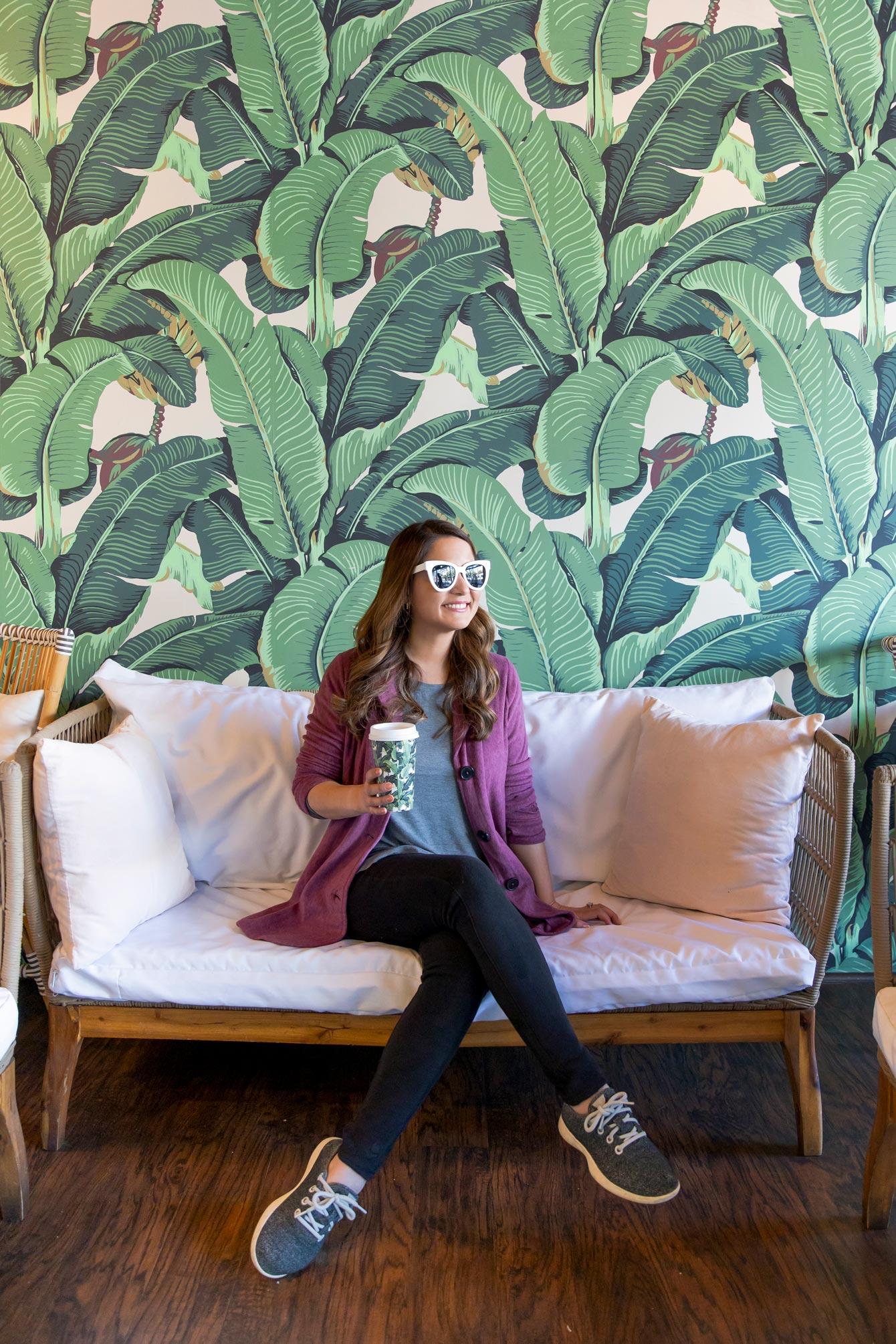 Rawberri Palm Print Wallpaper