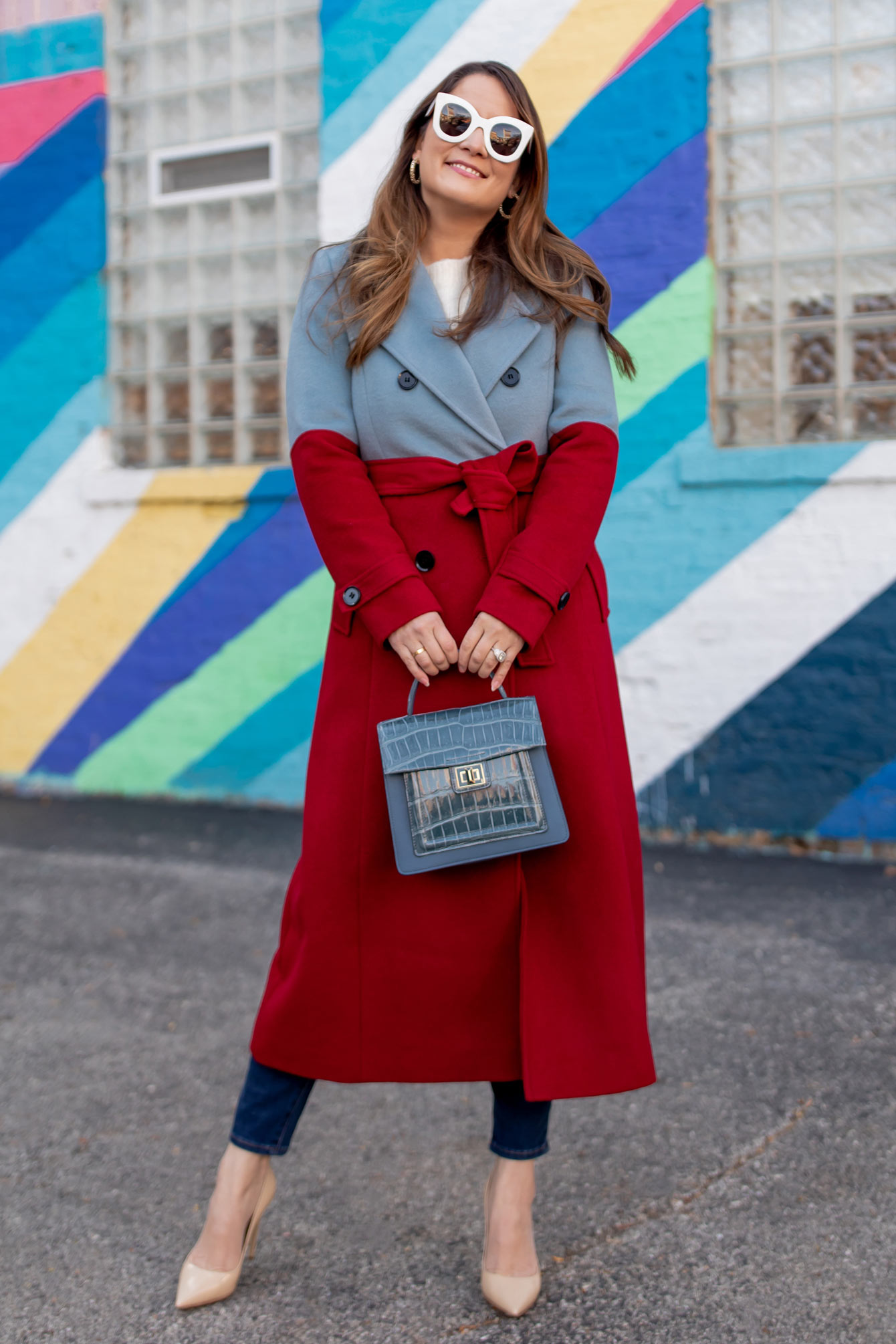 Atlantic-Pacific Red Blue Coat