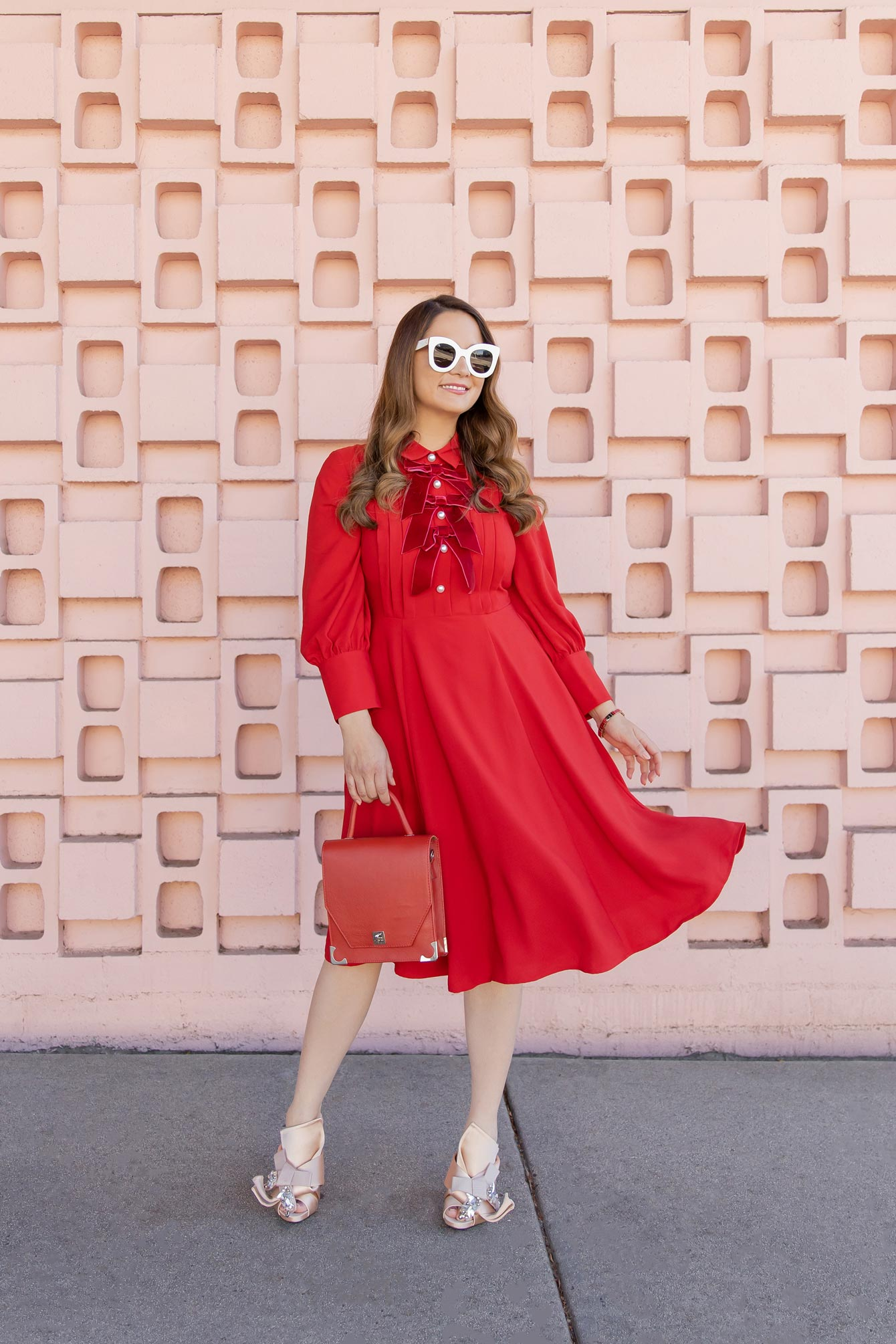 Atlantic Pacific Red Bow Dress