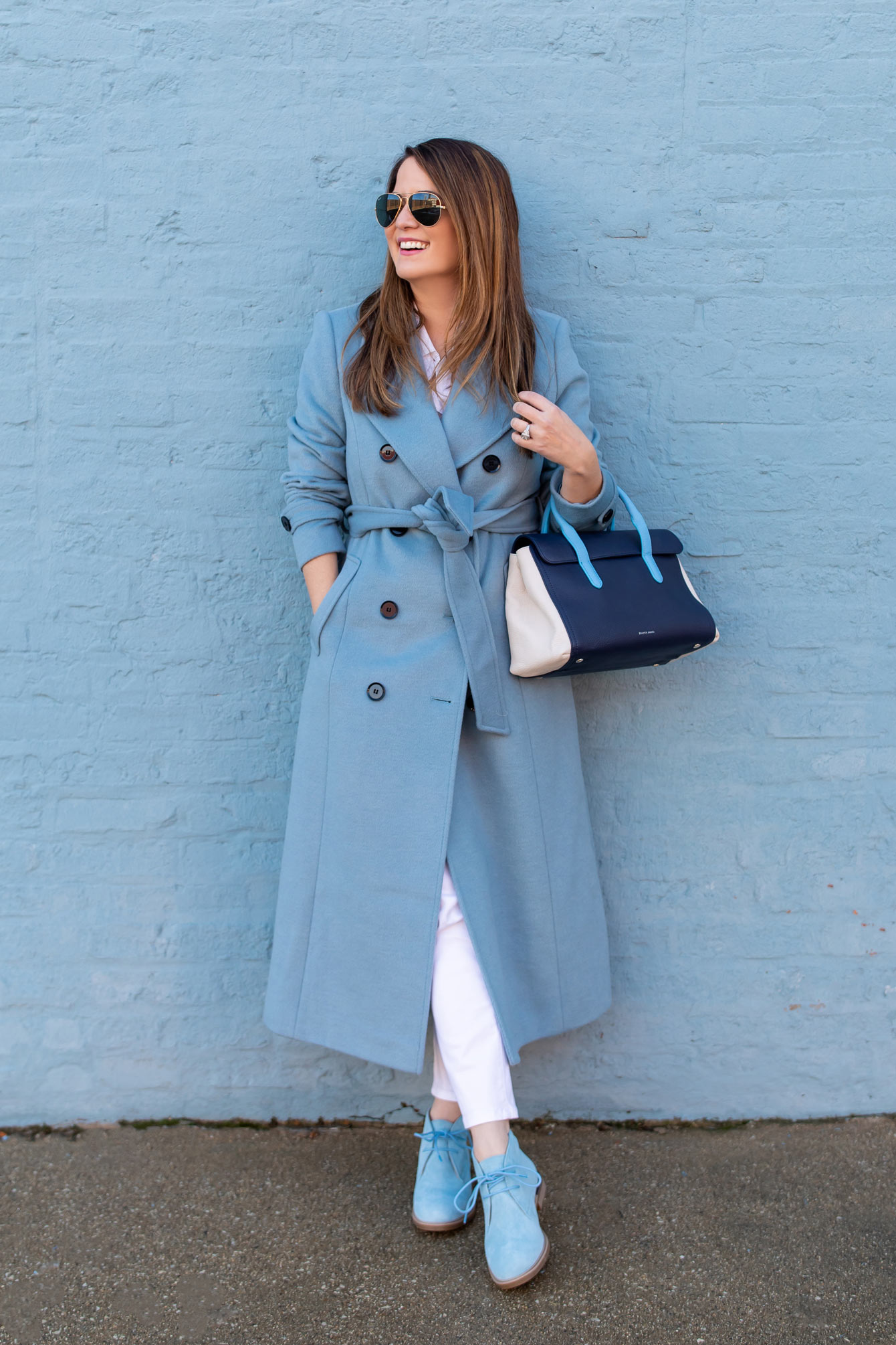 Halogen Atlantic-Pacific Blue Coat