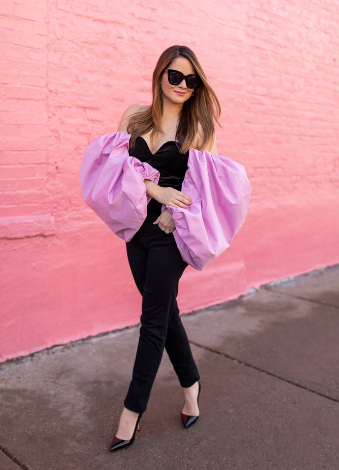 The Best Under $100 Pink Statement Sleeve Top
