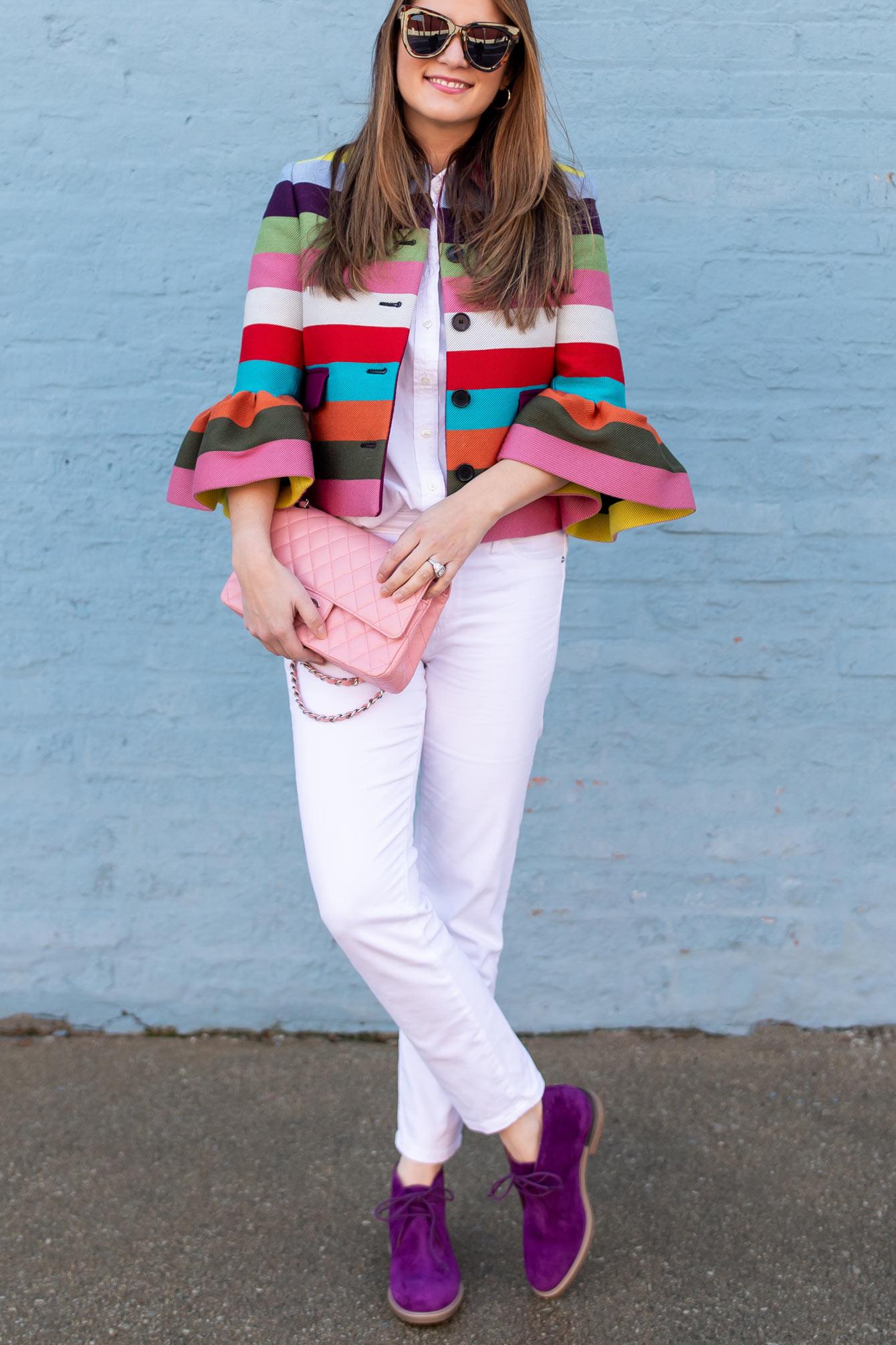 Mary Katrantzou Rainbow Stripe Jacket