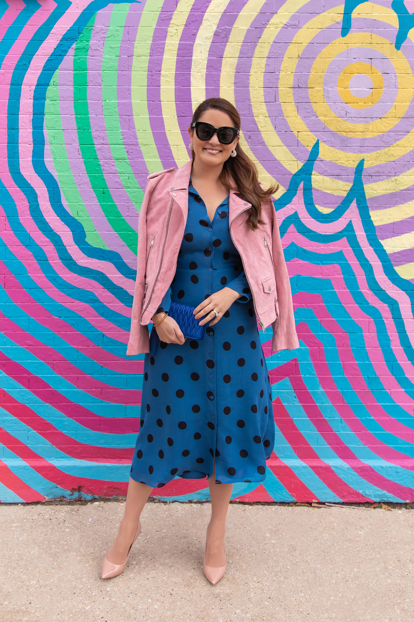 Reformation Polka Dot Shirtdress