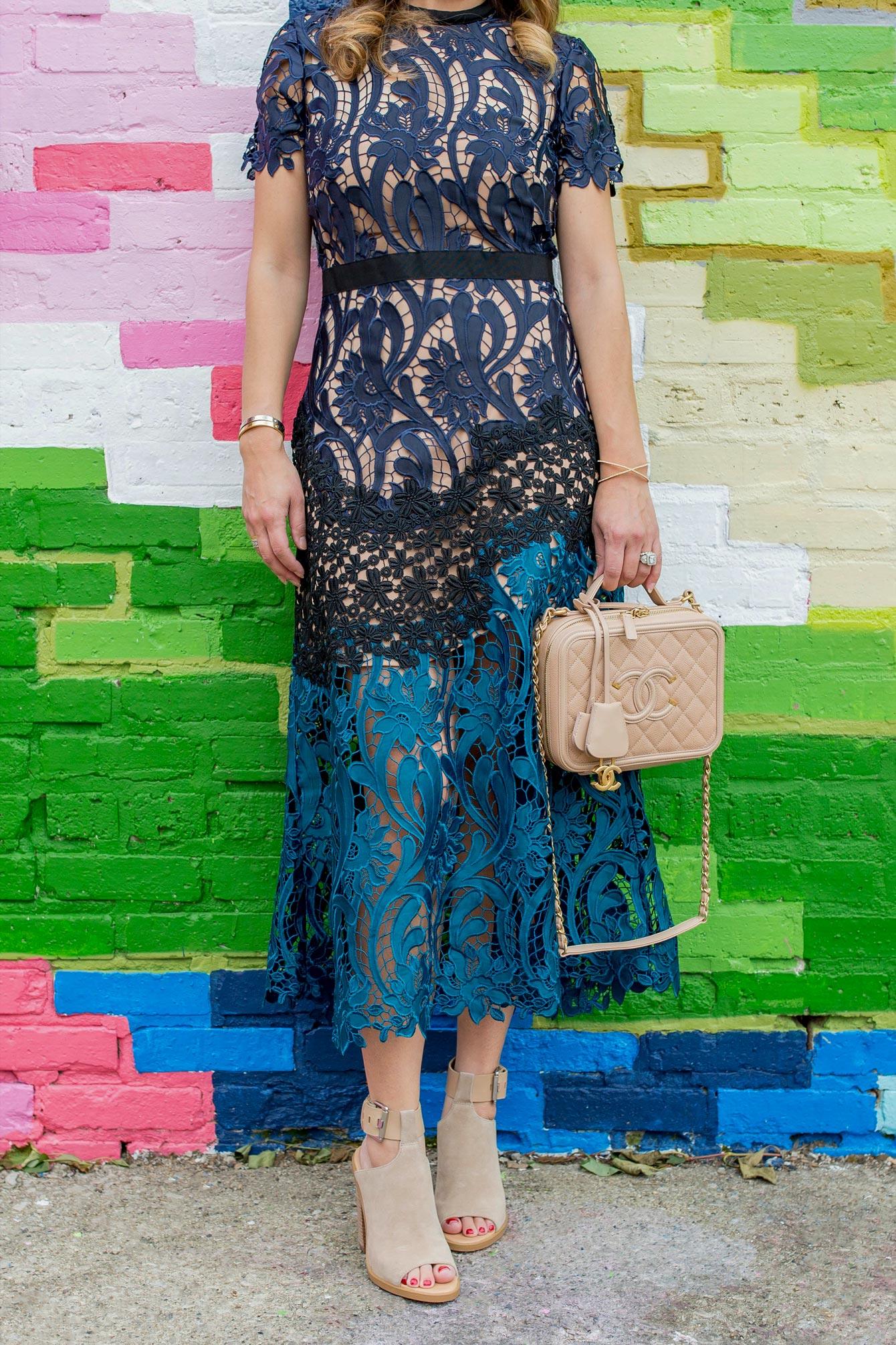 Self Portrait Prairie Lace Dress