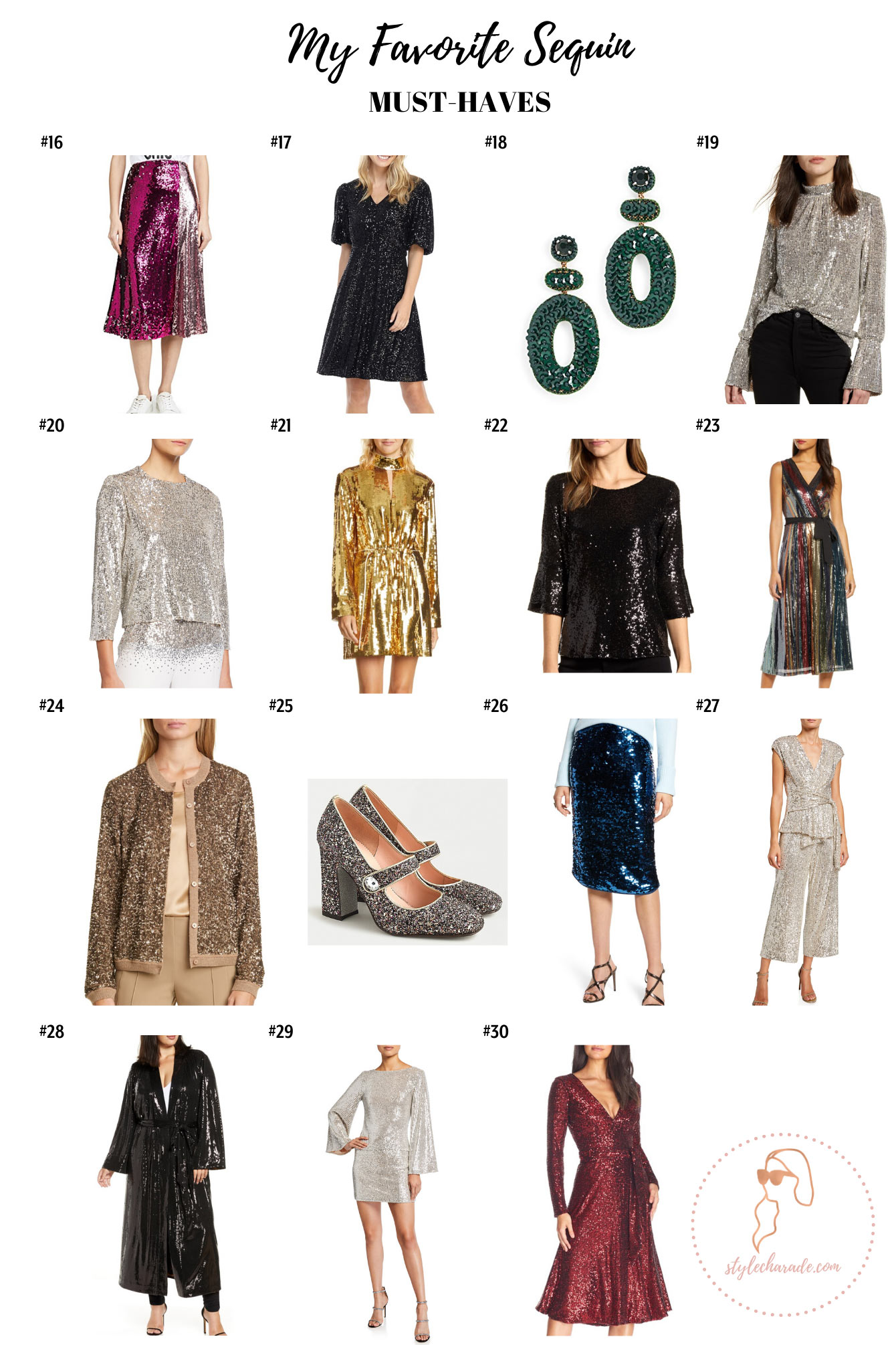Style Charade Holiday Sequins