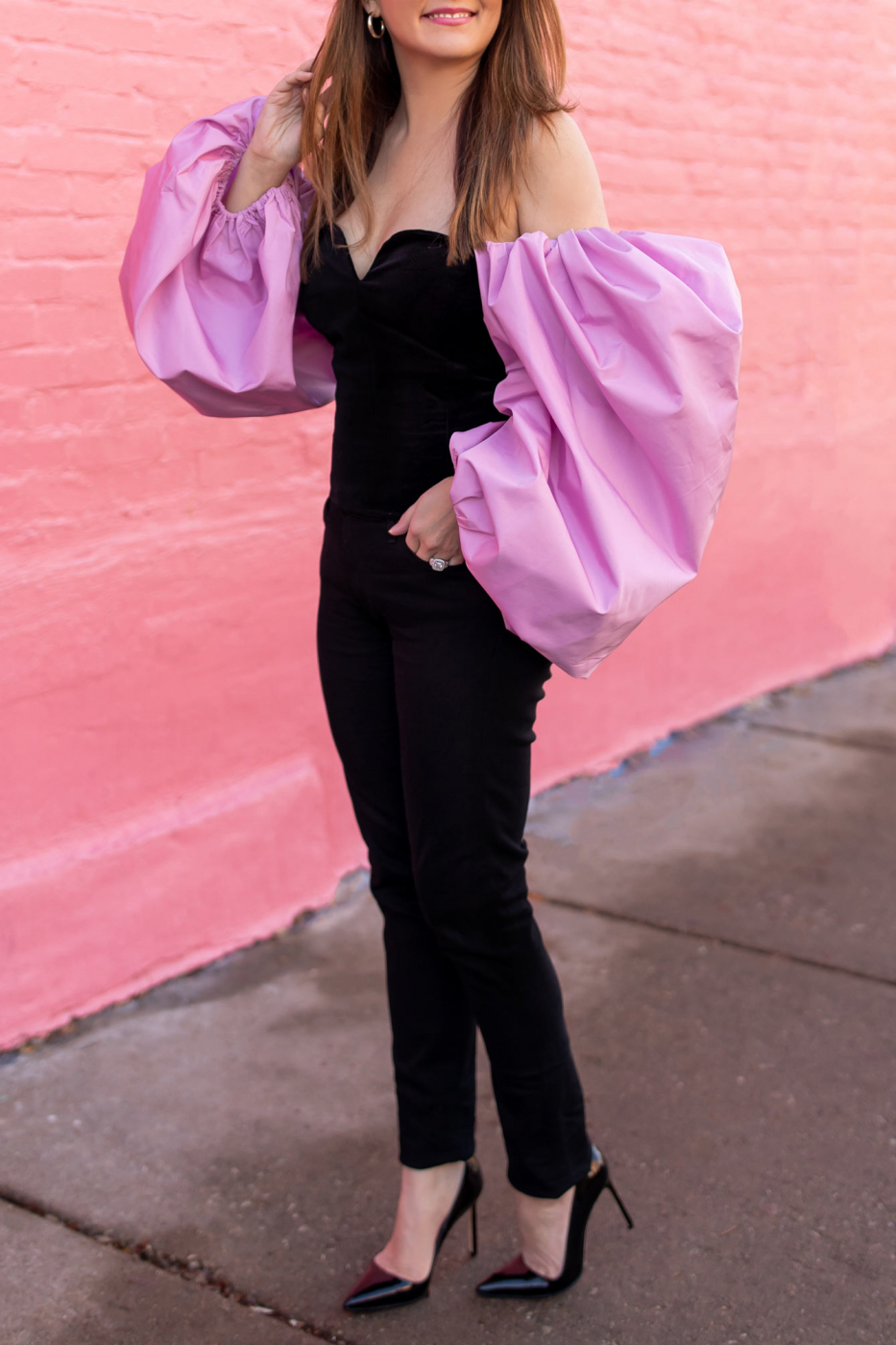 Style Charade Pink Statement Sleeves
