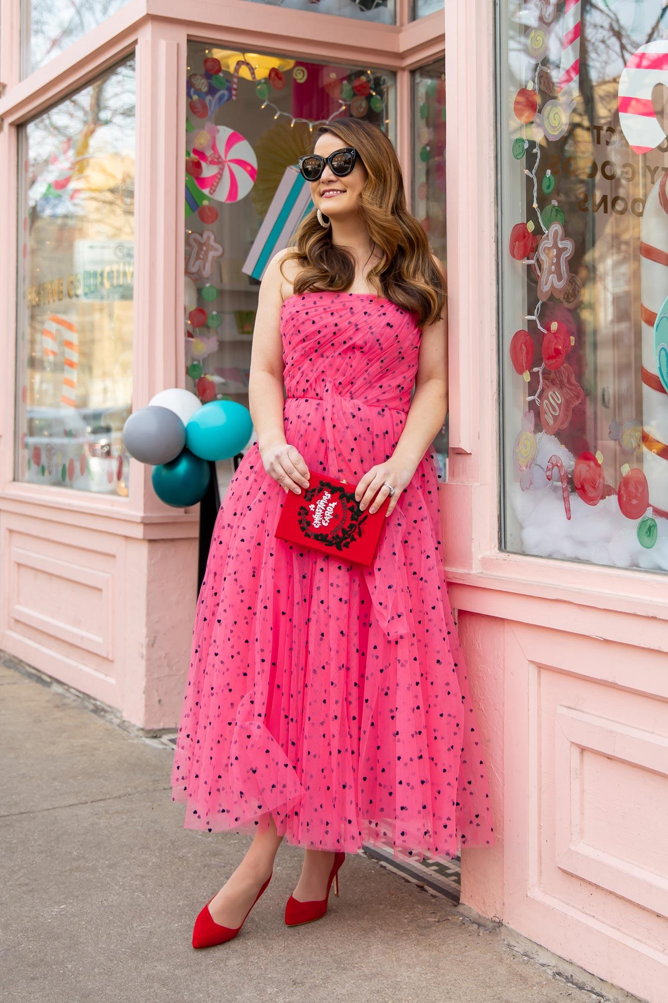 Carolina Herrera Pink Tulle Gown