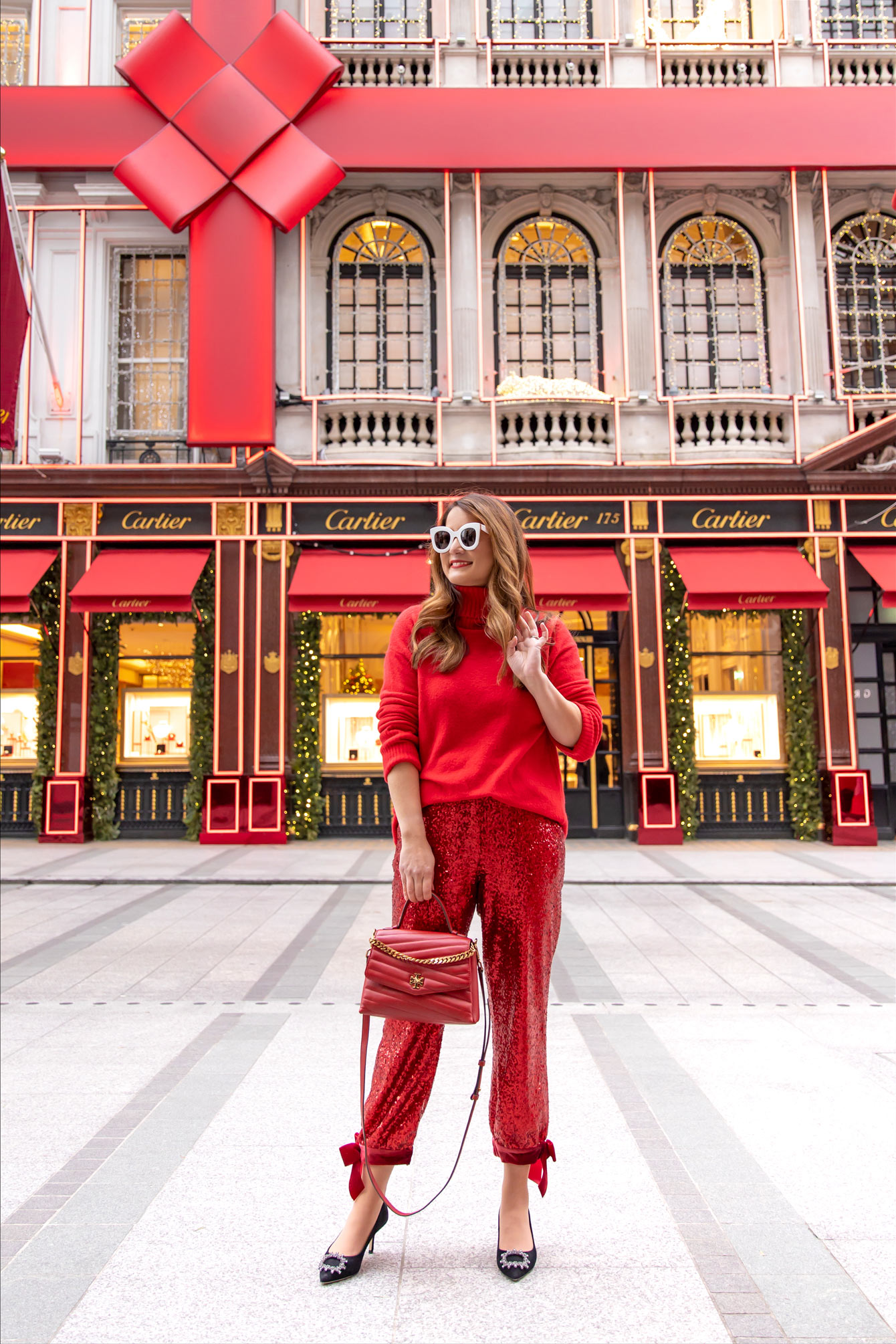 Cartier Boutique Red Bow Holiday