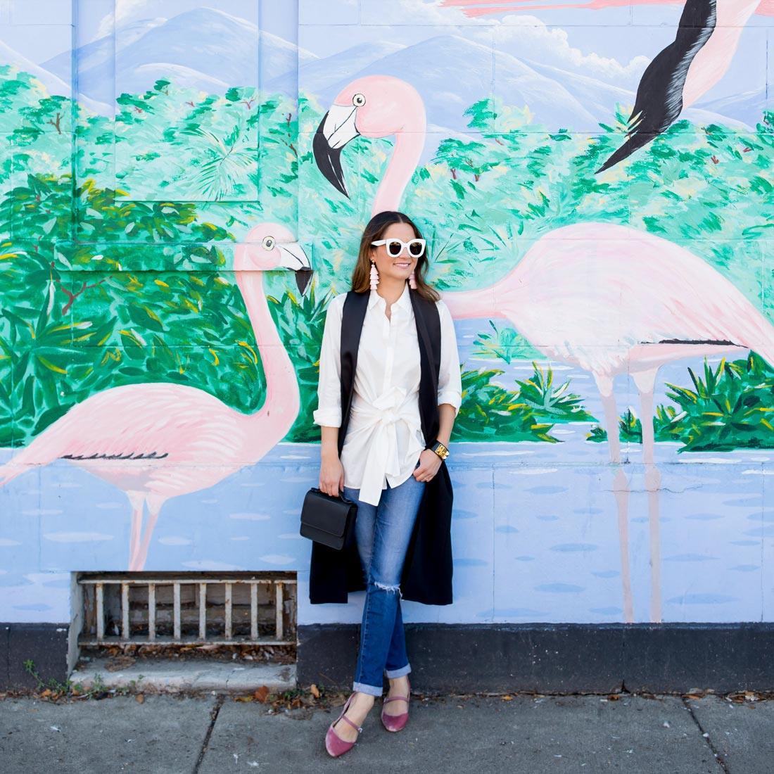 Flamingo Mural Chicago Humboldt Park